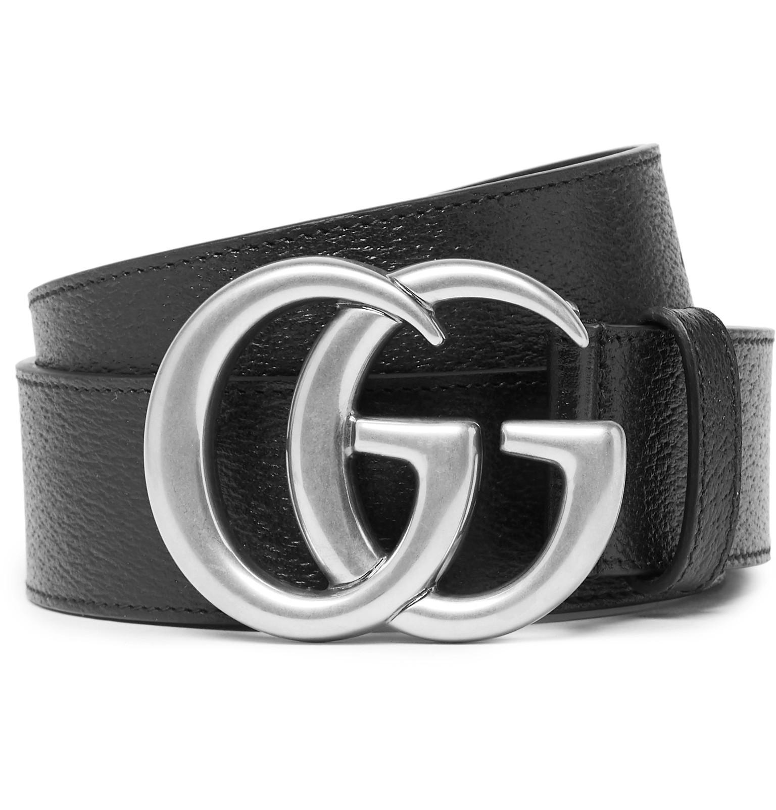 cddd4eeb5a2 Gucci 4cm Black Full-grain Leather Belt in Black for Men - Lyst
