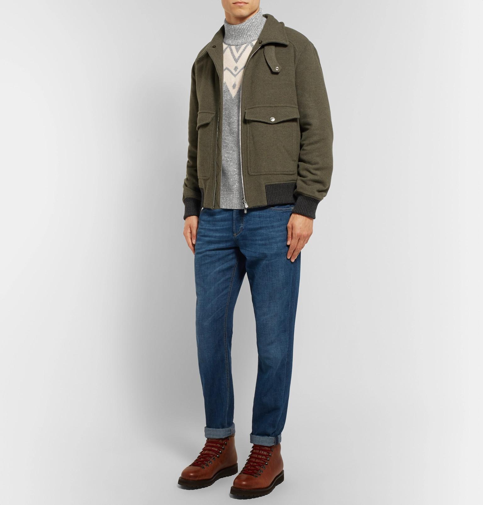 Men For Fair Gray Sweater Brunello Fullscreen View Blend Wool Cucinelli Lyst Isle TpZq84w