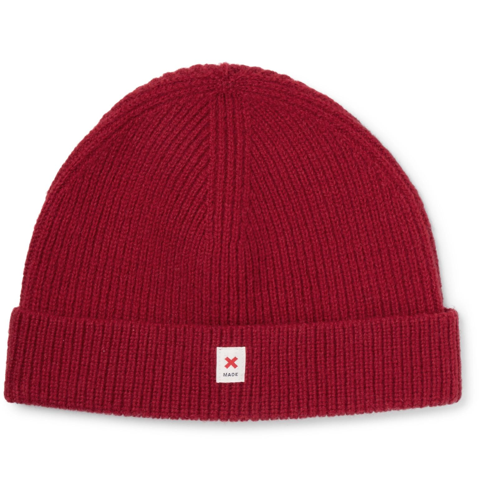 01c1b186f6 Best Made Company The Cap Of Courage Wool Beanie in Red for Men - Lyst