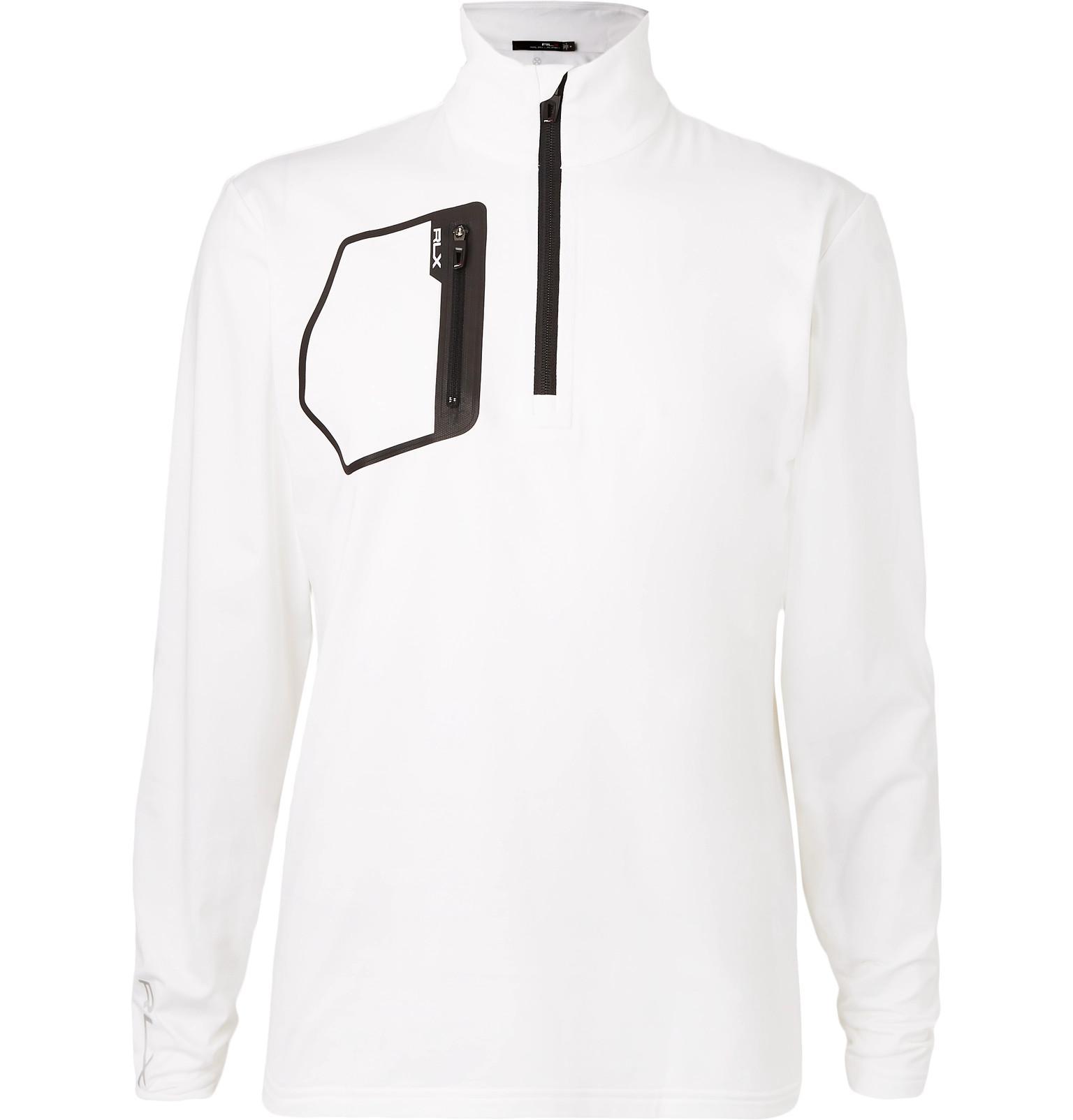 e5ad1b1b RLX Ralph Lauren Stretch-jersey Half-zip Golf Top in White for Men ...