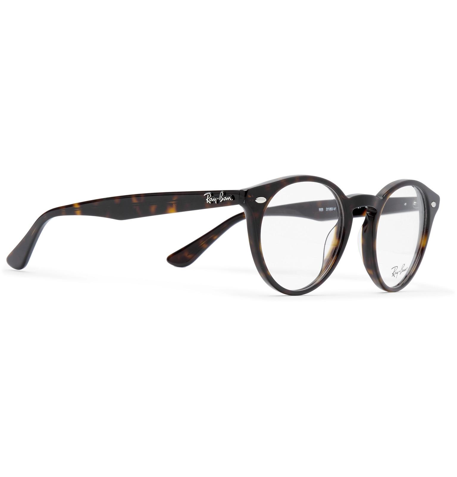b8cee5cf9a Ray-Ban - Multicolor Round-frame Tortoiseshell Acetate Optical Glasses for  Men - Lyst. View fullscreen