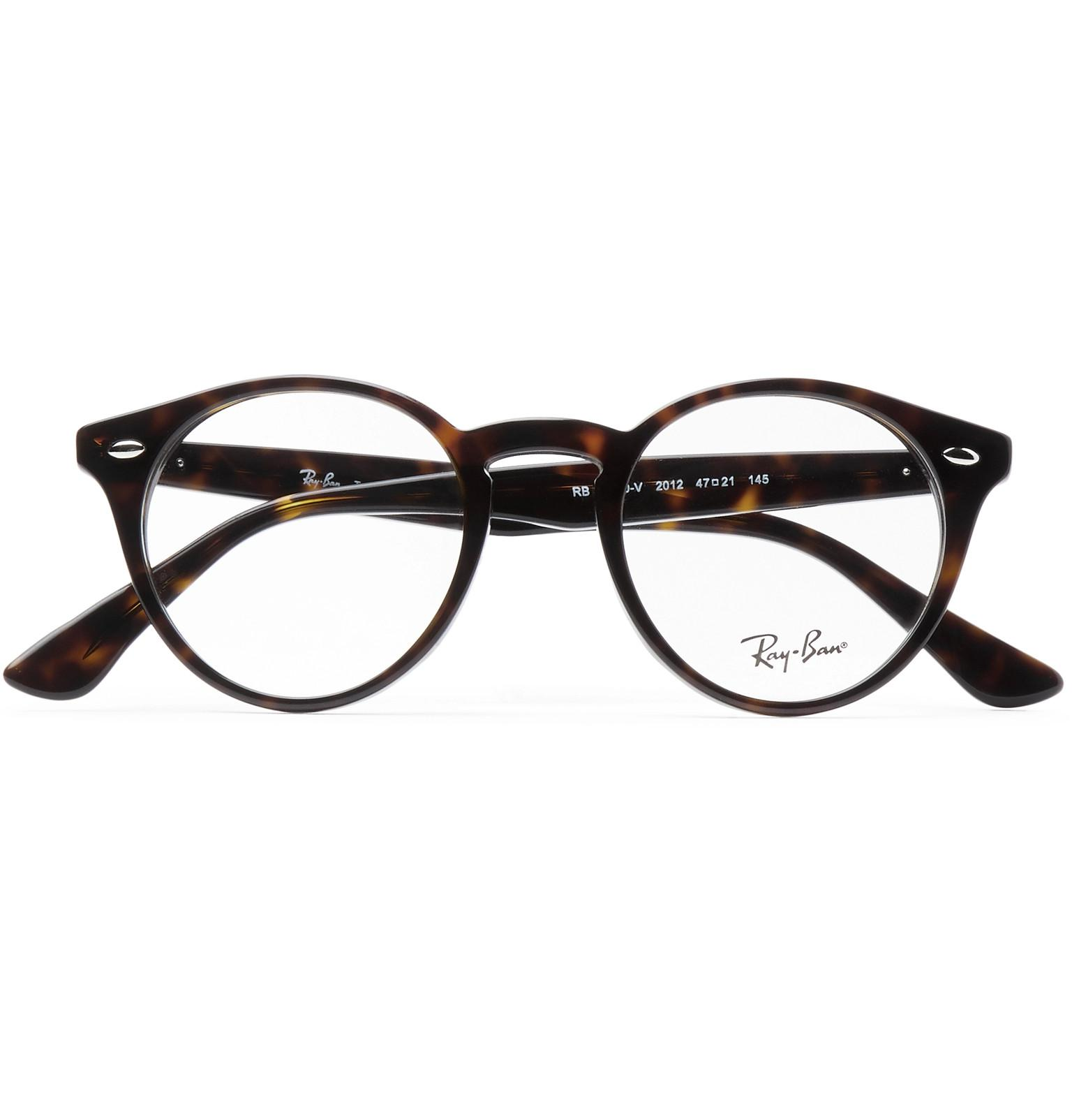935266b326 Ray-Ban Round-frame Tortoiseshell Acetate Optical Glasses for Men - Lyst