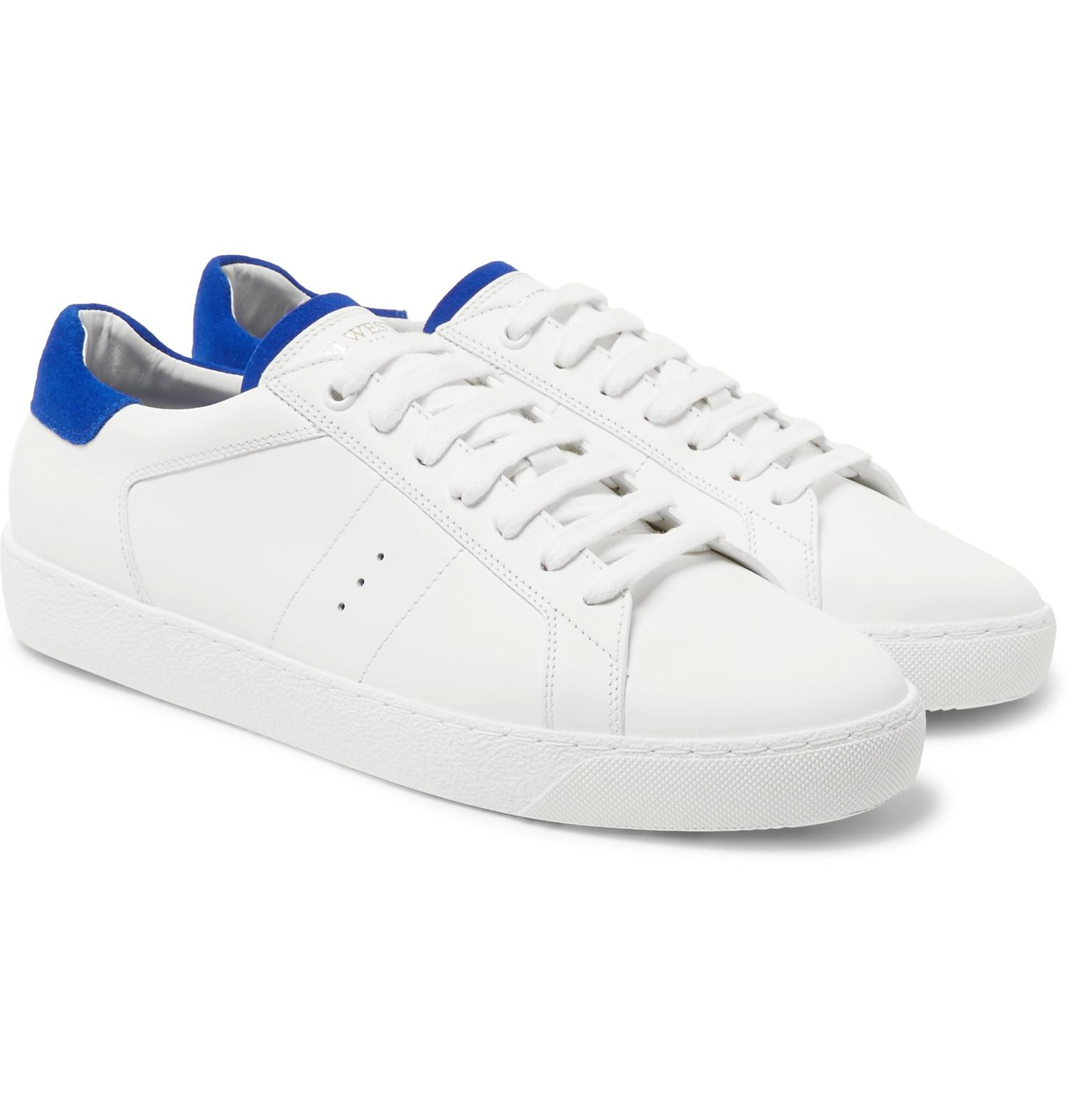 J.M. Weston Suede-Trimmed Leather Sneakers cheap good selling buy cheap wide range of best for sale top quality online nZgnVsdJ