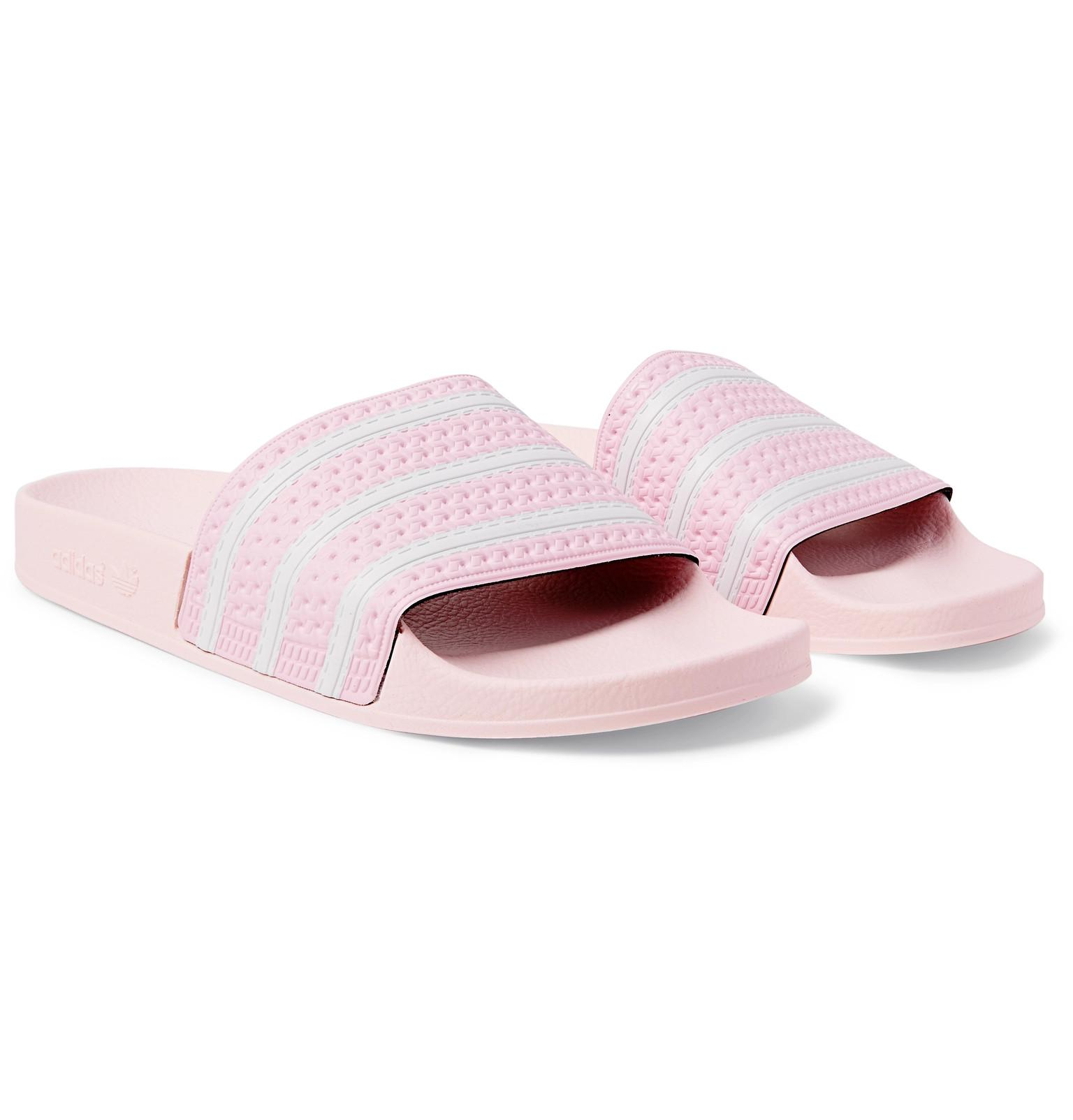 4fad90497ab1 Adidas Originals Adilette Textured-rubber Slides in Pink for Men - Lyst