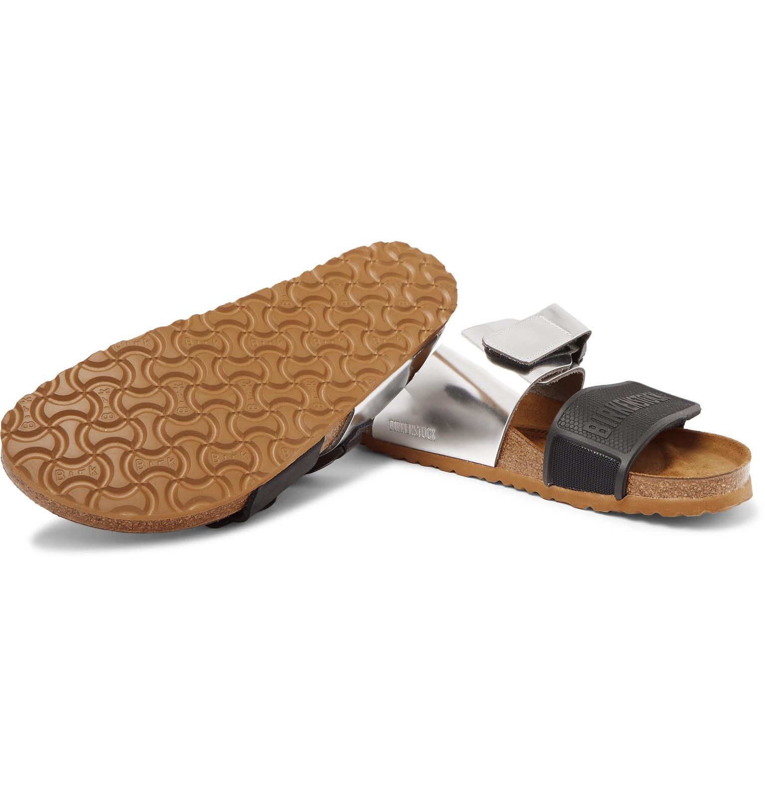 25b2ff831469 Rick Owens - + Birkenstock Rotterdam Metallic Leather And Rubber Sandals  for Men - Lyst. View fullscreen