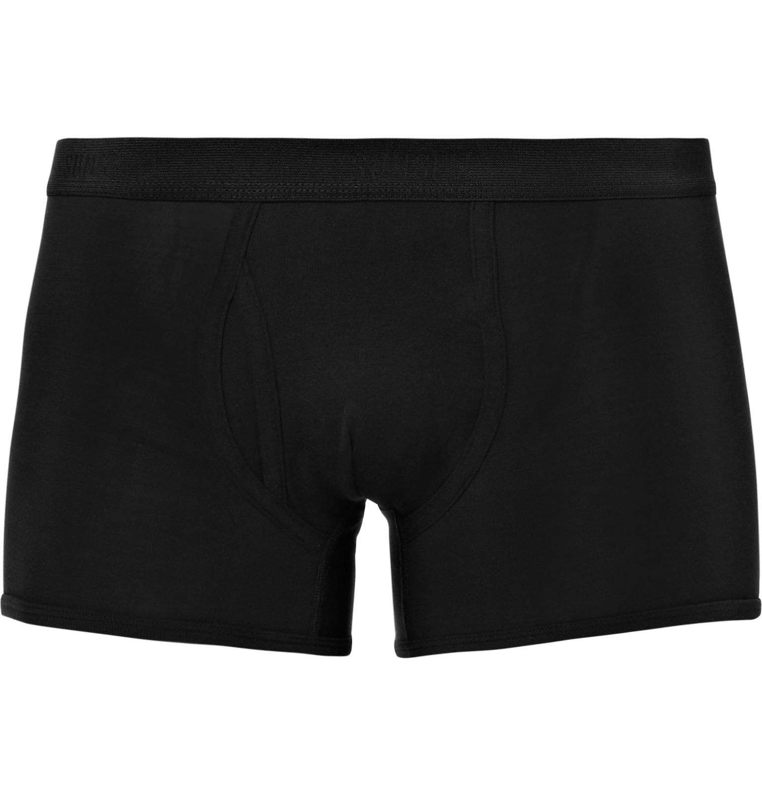 4b3cae5d222c Lyst - Sunspel Superfine Cotton-jersey Boxer Briefs in Black for Men