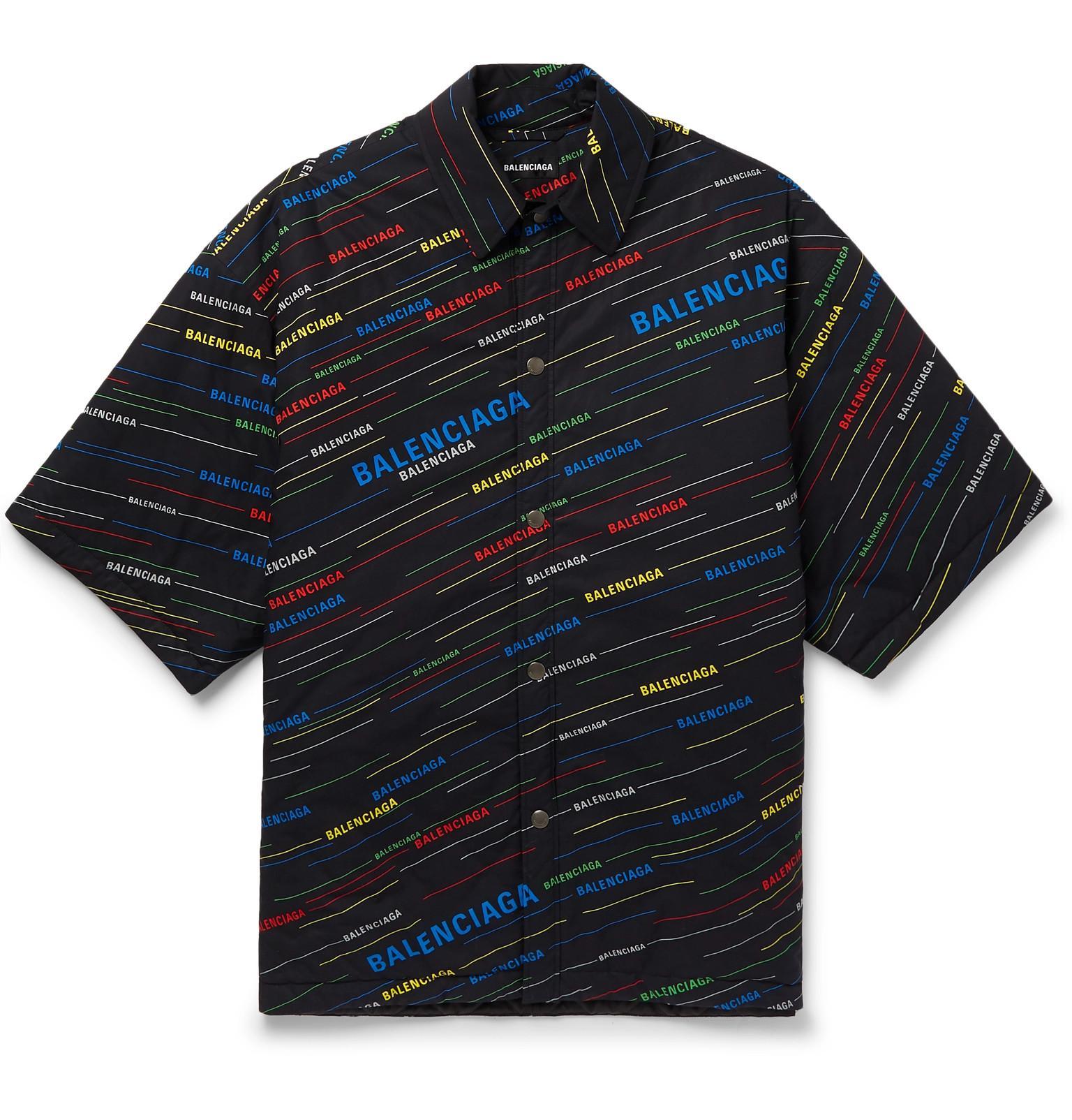 d5b70b8de444 Balenciaga - Black Logo-print Padded Cotton Jacket for Men - Lyst. View  fullscreen