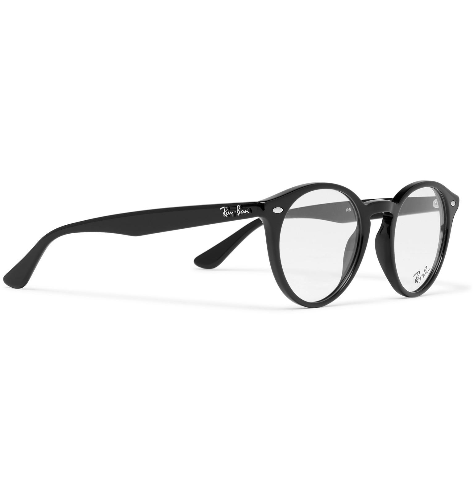54344ada1d Ray-Ban - Black Round-frame Acetate Optical Glasses for Men - Lyst. View  fullscreen