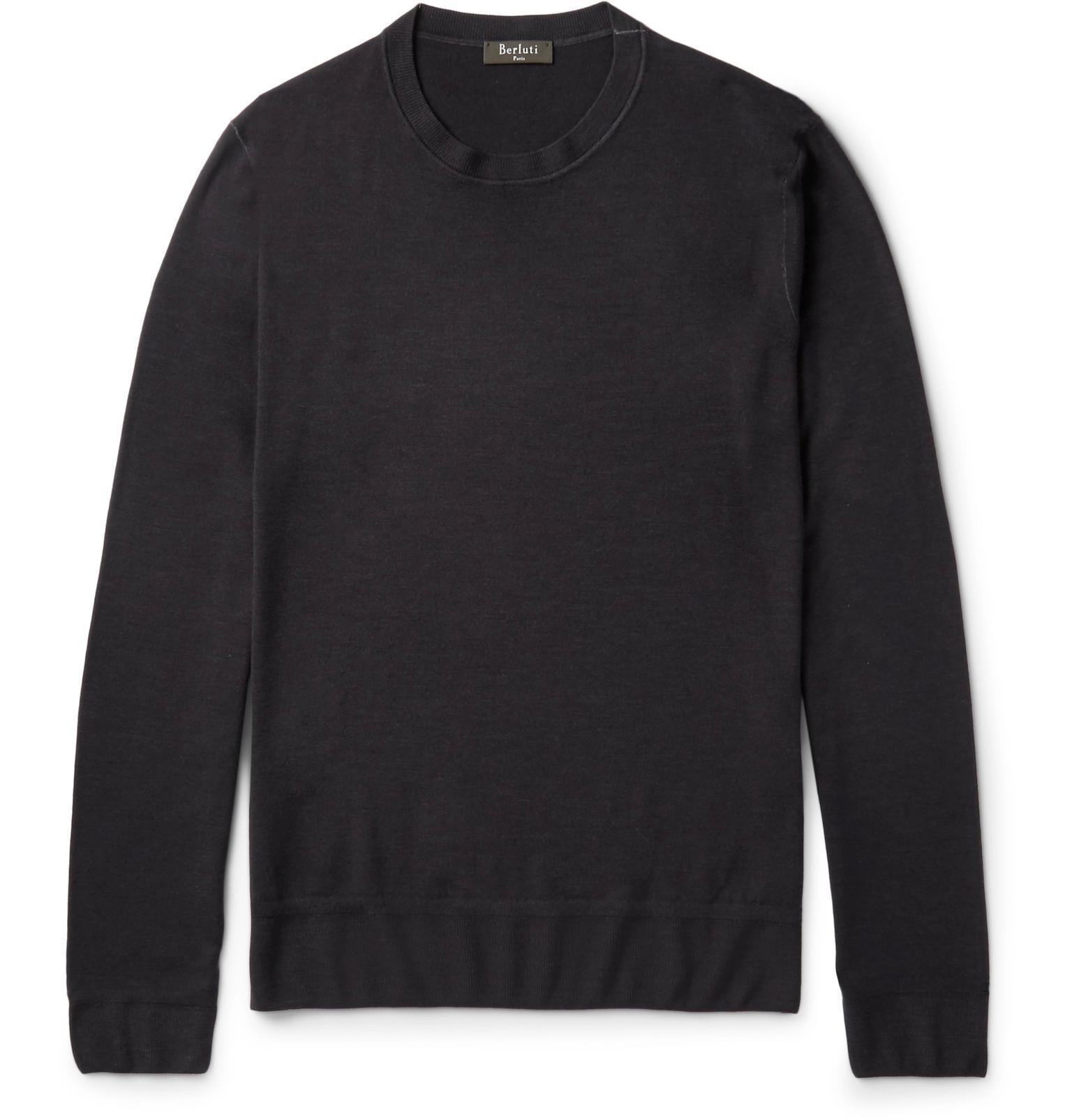 For Men Lyst Berluti Wool Black Fullscreen View Sweater PvnU7vt8Fq