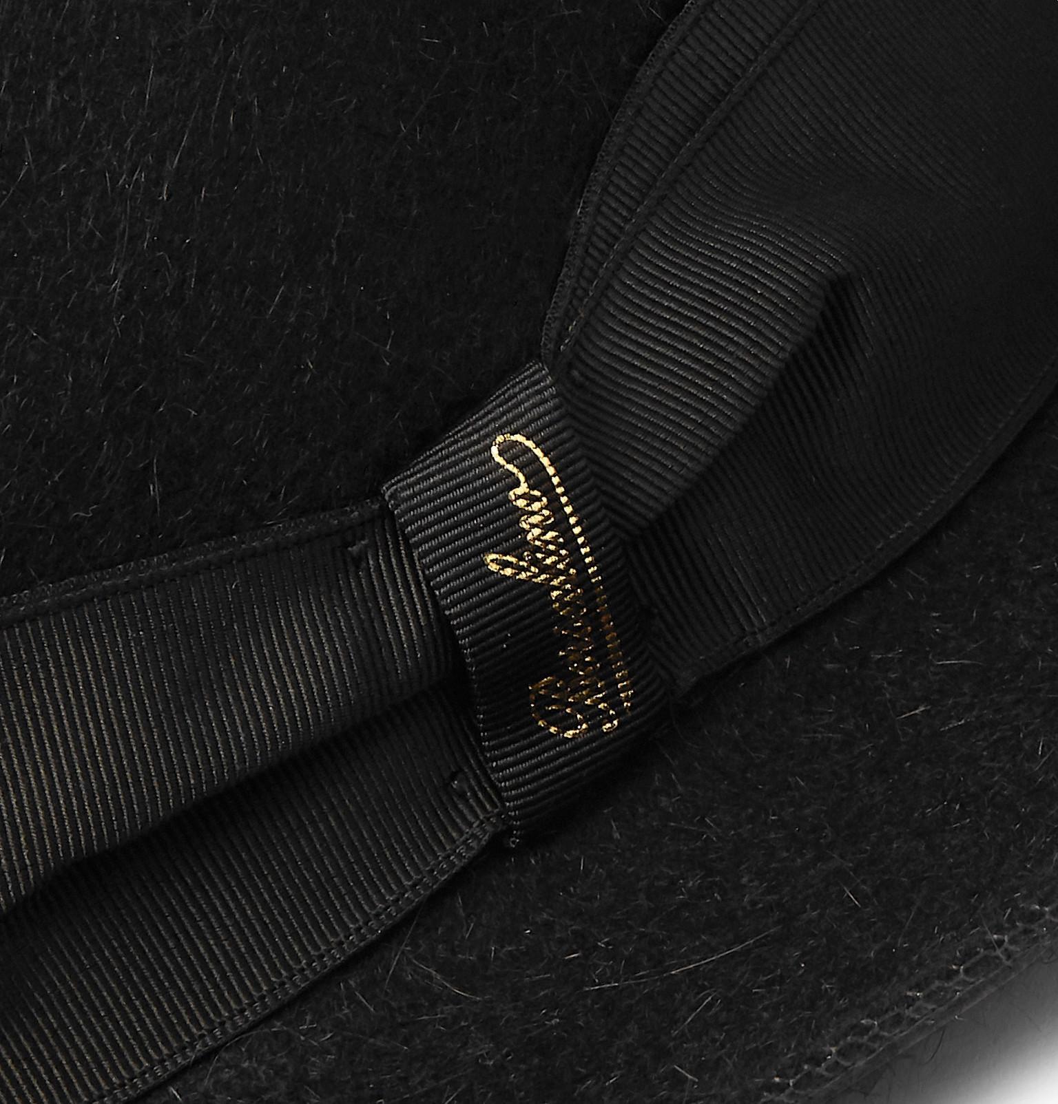 242eb20eb60aec Borsalino - Black Traveller Grosgrain-trimmed Rabbit-felt Hat for Men -  Lyst. View fullscreen