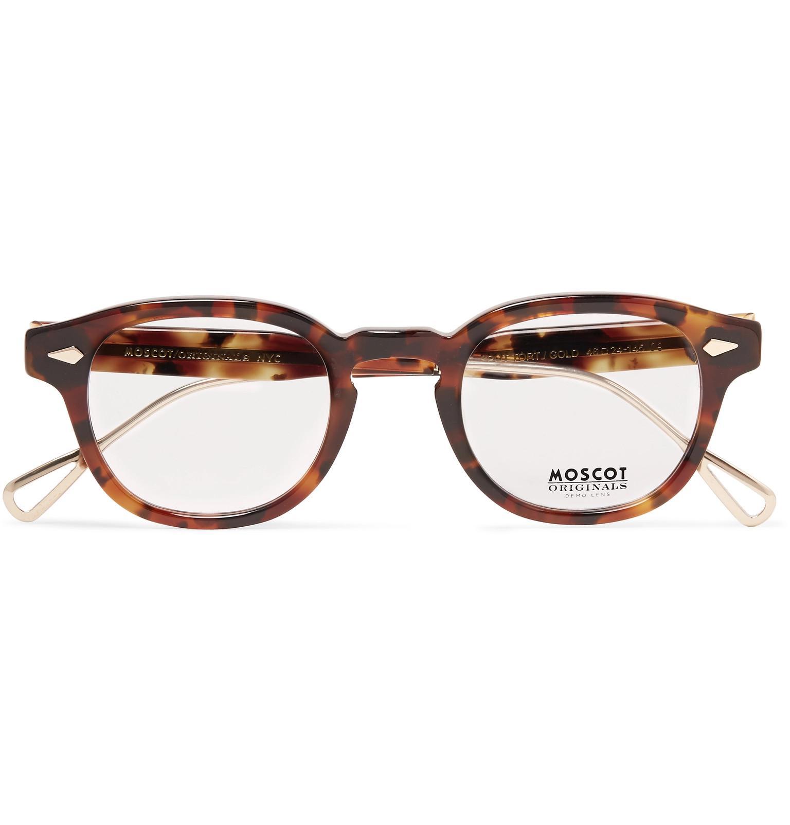 3e2f3a247bf Moscot - Brown Lemtosh Round-frame Tortoiseshell Acetate And Gold-tone  Titanium Optical Glasses. View fullscreen