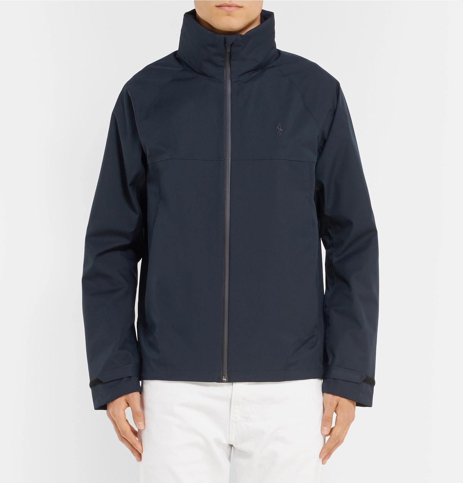 cefb9b0f1270 Lyst - Polo Ralph Lauren Shell Hooded Jacket in Blue for Men