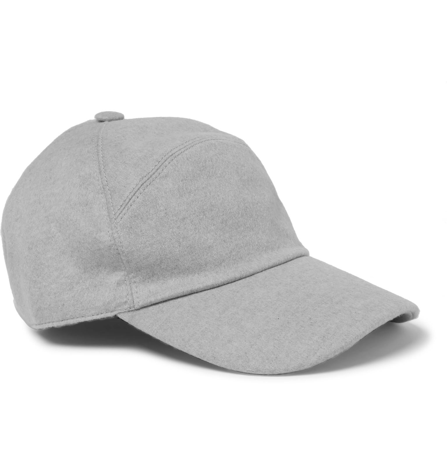 c7d03c2b24a Lyst - Loro Piana Storm System® Baby Cashmere Baseball Cap in Gray ...