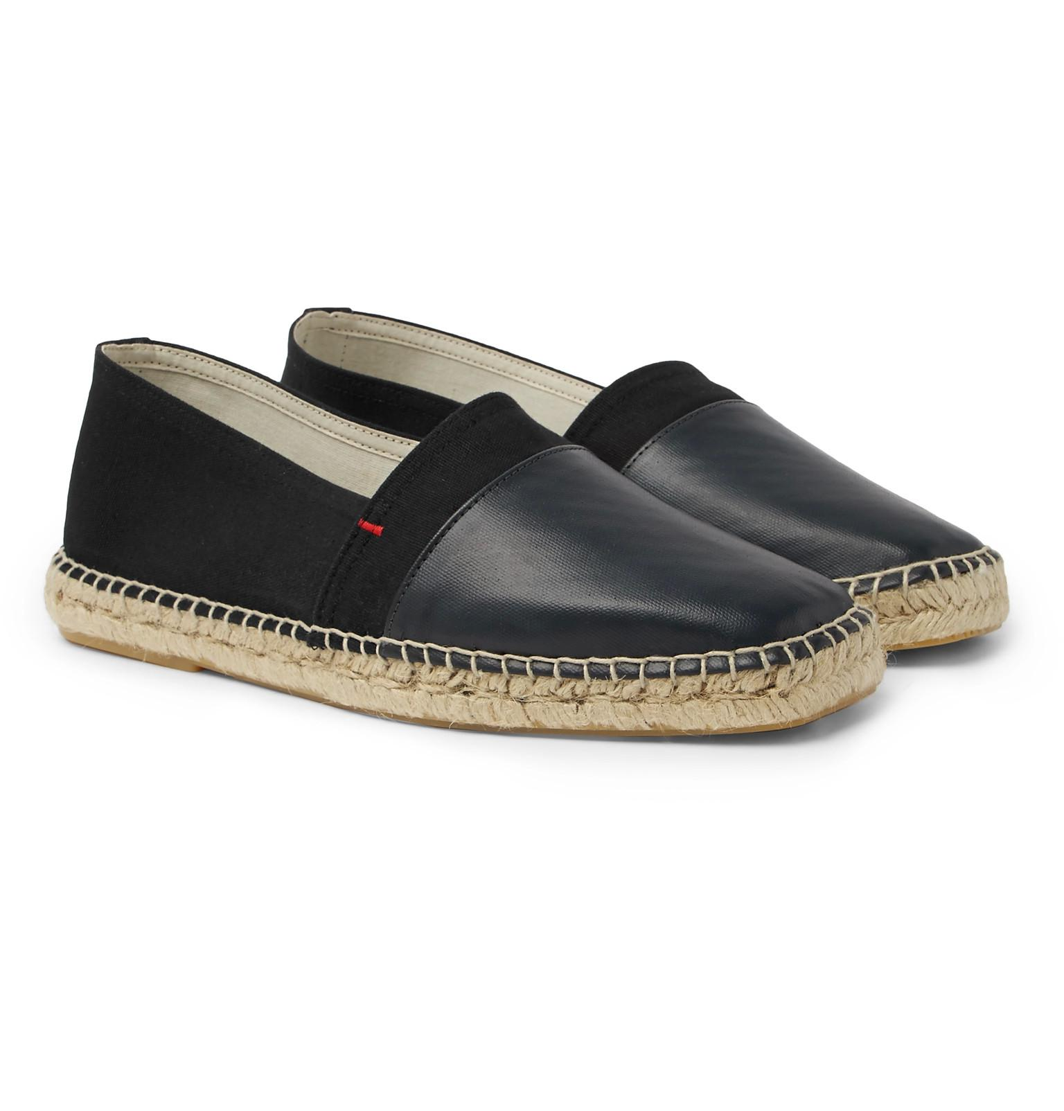 Sutton Canvas And Glossed-leather Espadrilles Orlebar Brown oGViX