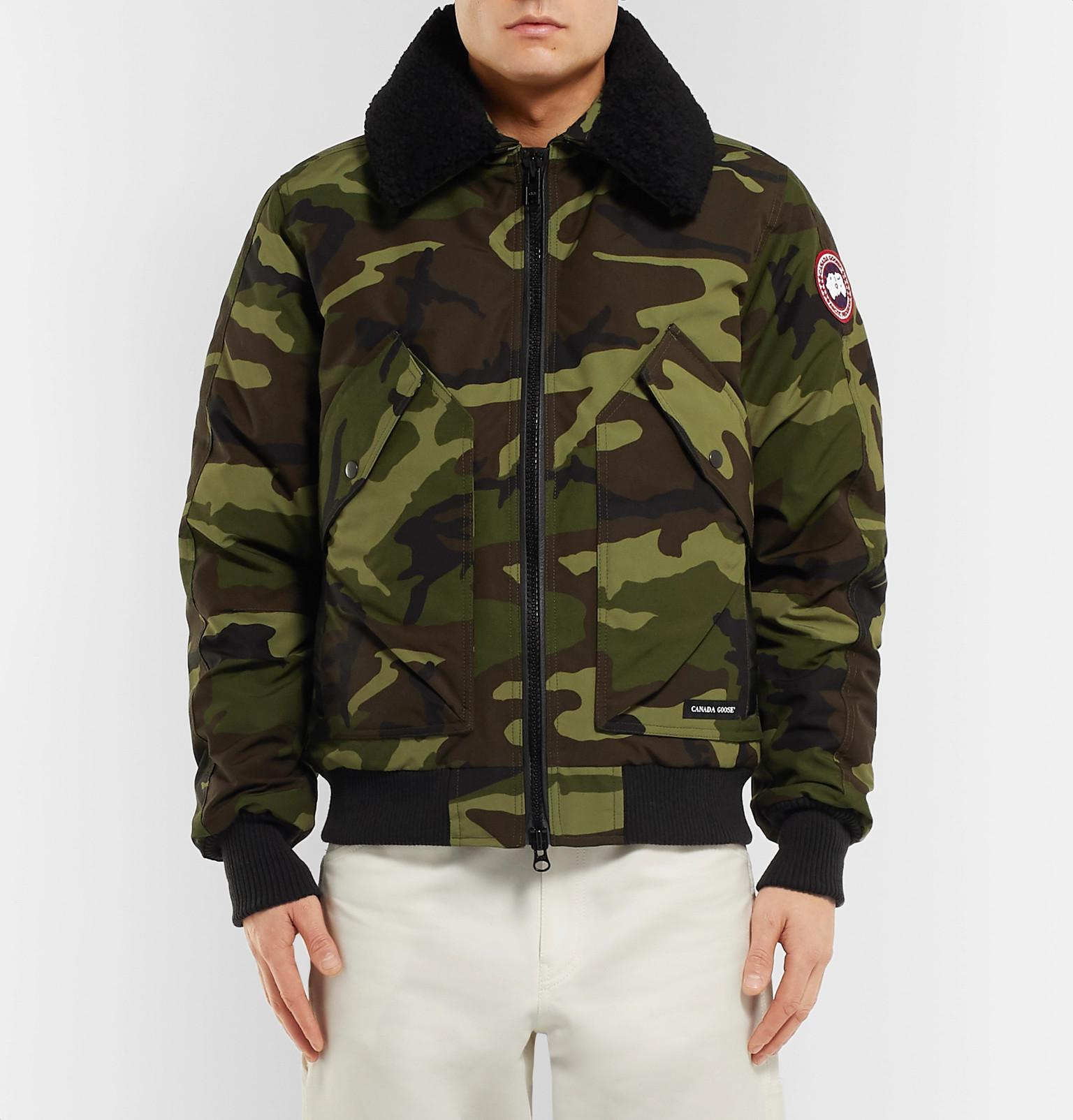 Shell View Shearling Down Bromley Print Camouflage Goose Canada shrdQoCxBt