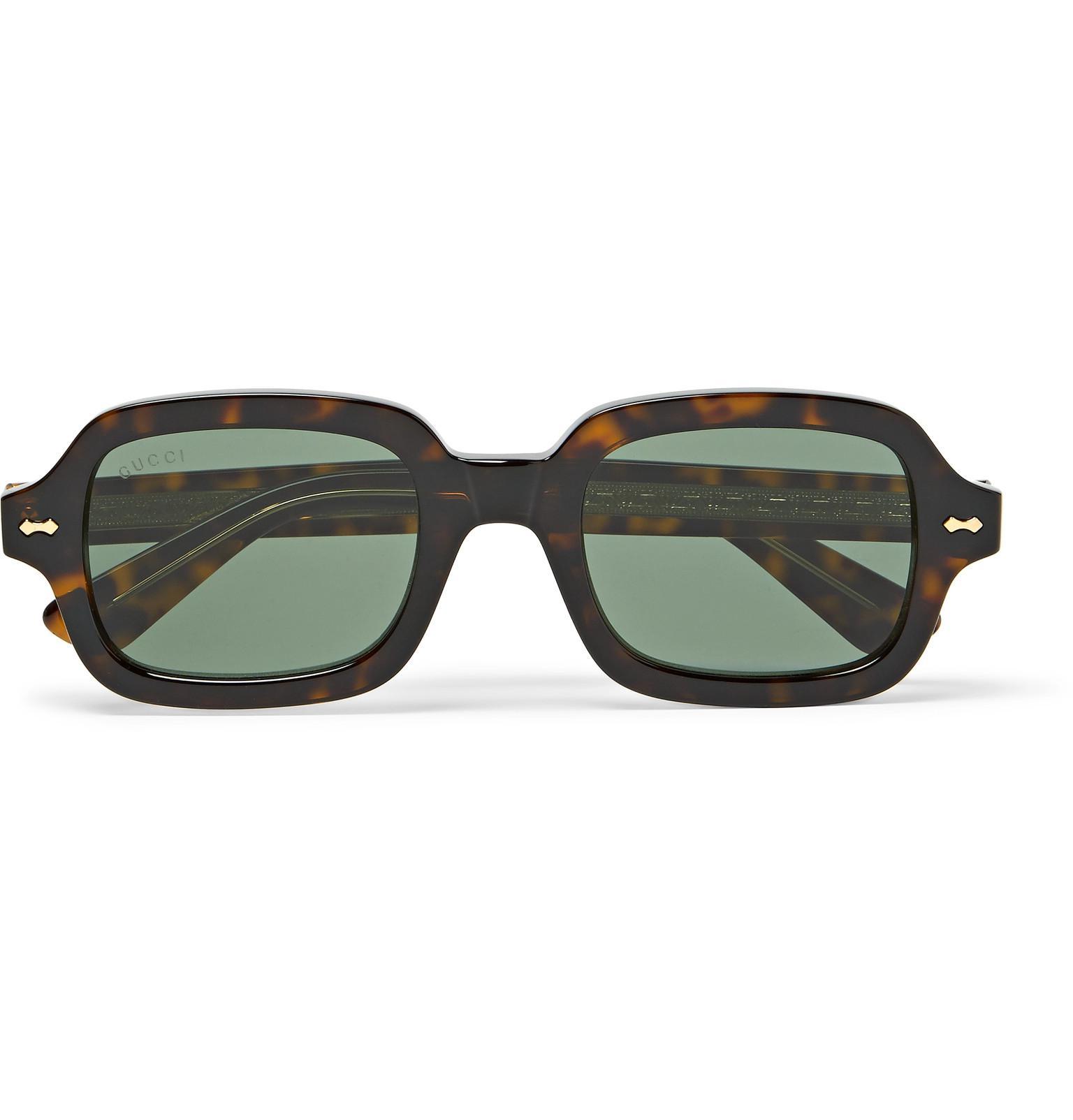 0be8ceb2b56 Gucci Square-frame Tortoiseshell Acetate Sunglasses in Brown for Men ...