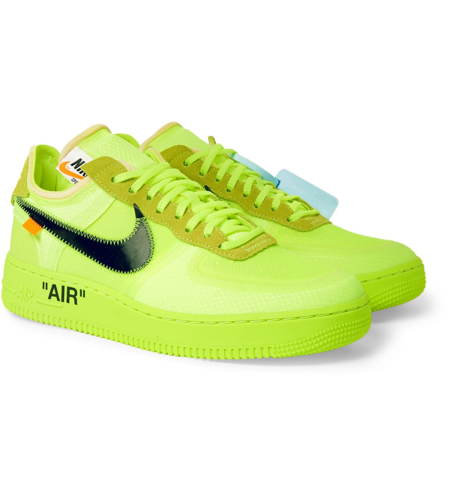 official photos b836e 0f154 Men s Green + Off-white The Ten  Air Force 1 Trainers
