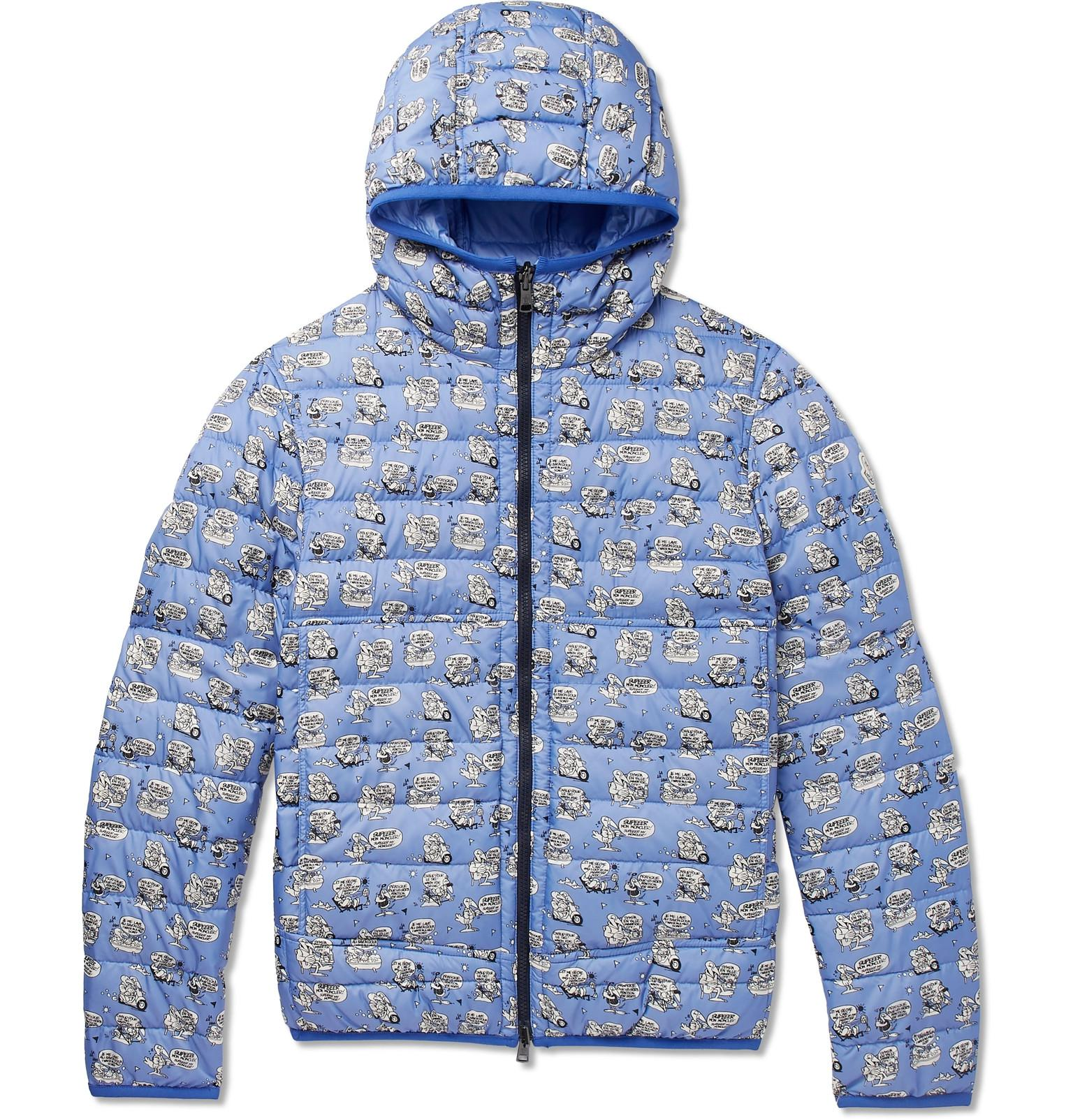 3dd44c720 Moncler Oise Slim-fit Reversible Quilted Printed Shell Hooded Down ...