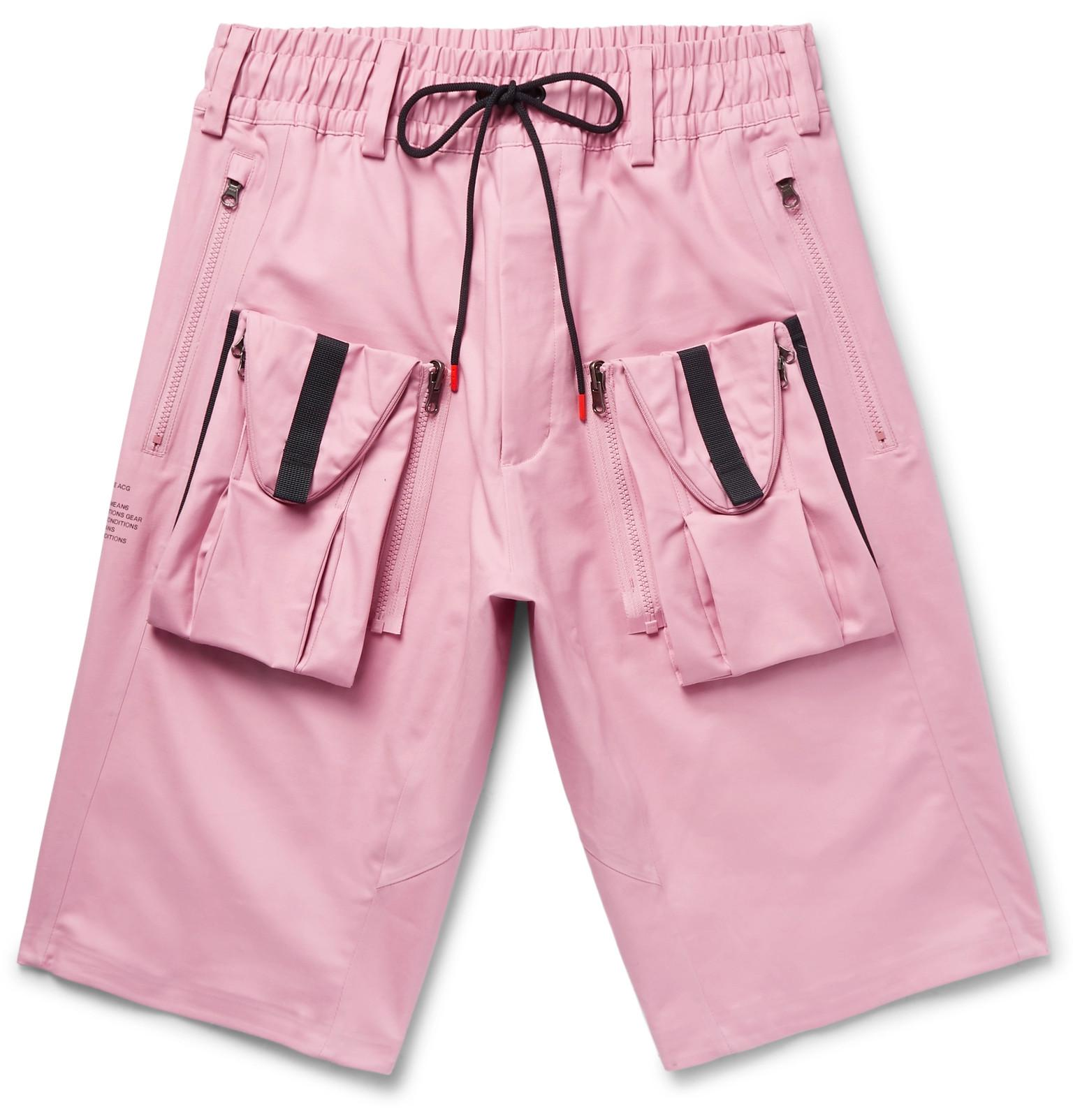 4684dac0661a8 Nike Lab Acg Deploy Cargo Stretch-cotton Shorts in Pink for Men - Lyst