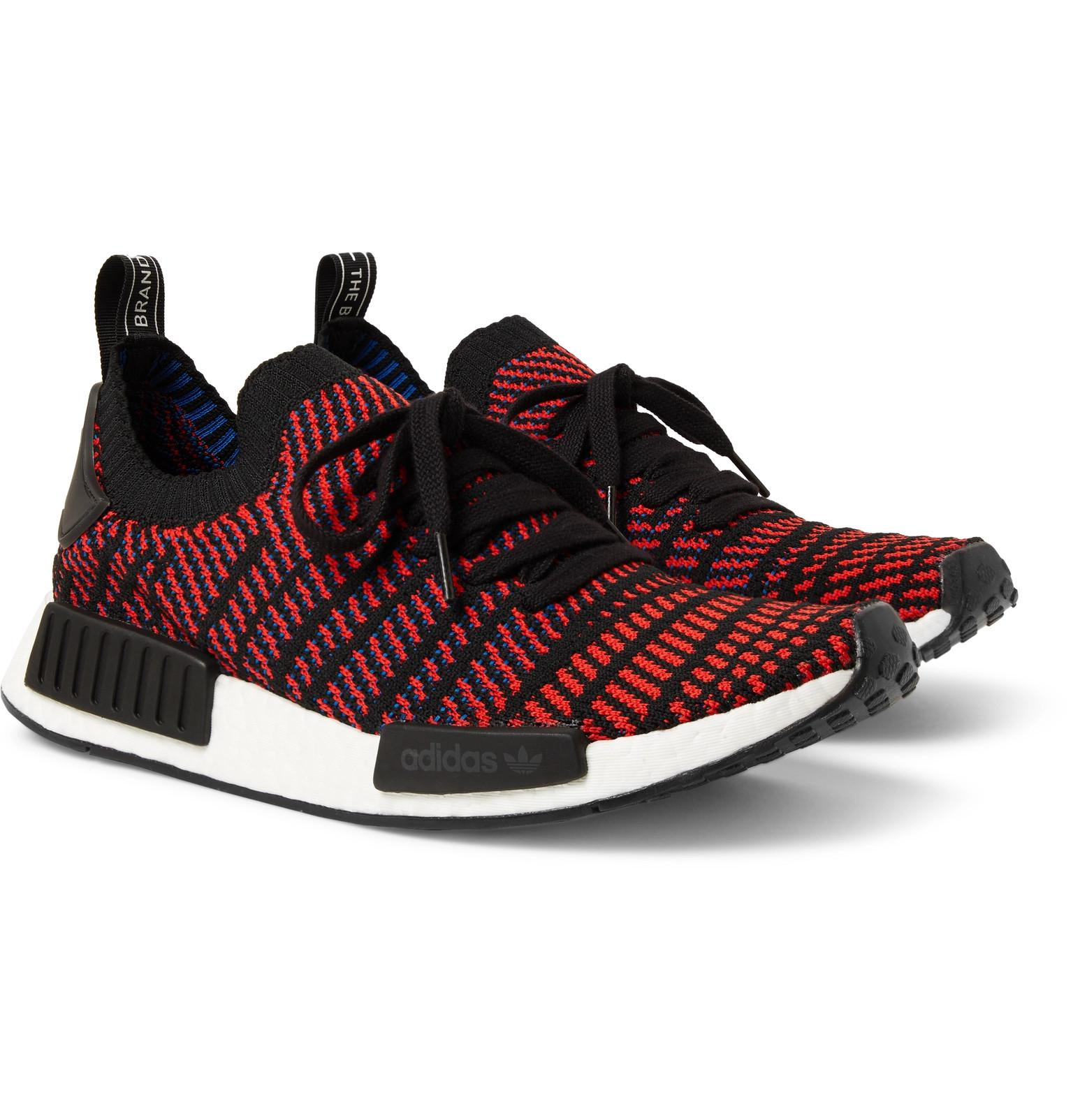 c23a5d7aa ... coupon code for lyst adidas originals nmd r1 stlt primeknit sneakers in  red for men a3f1a