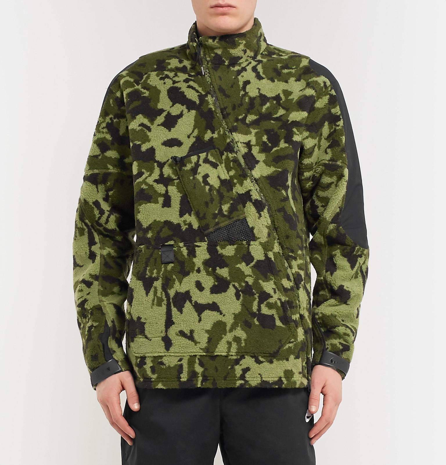 b292828d62e0 Nike X Alyx Mmw Two-part Camouflage Hooded Fleece Jacket in Green ...