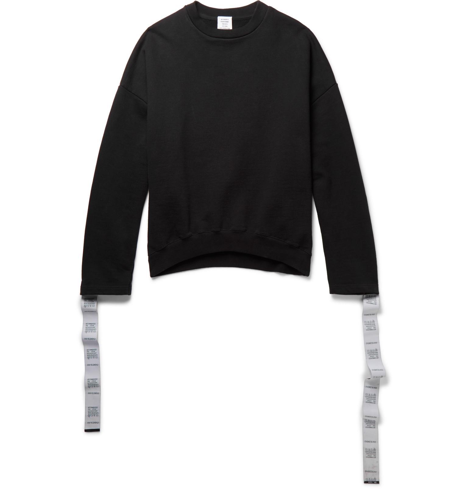 Black Tape Crewneck Sweatshirt VETEMENTS Popular And Cheap Discount Shop For Gv5RFvSA