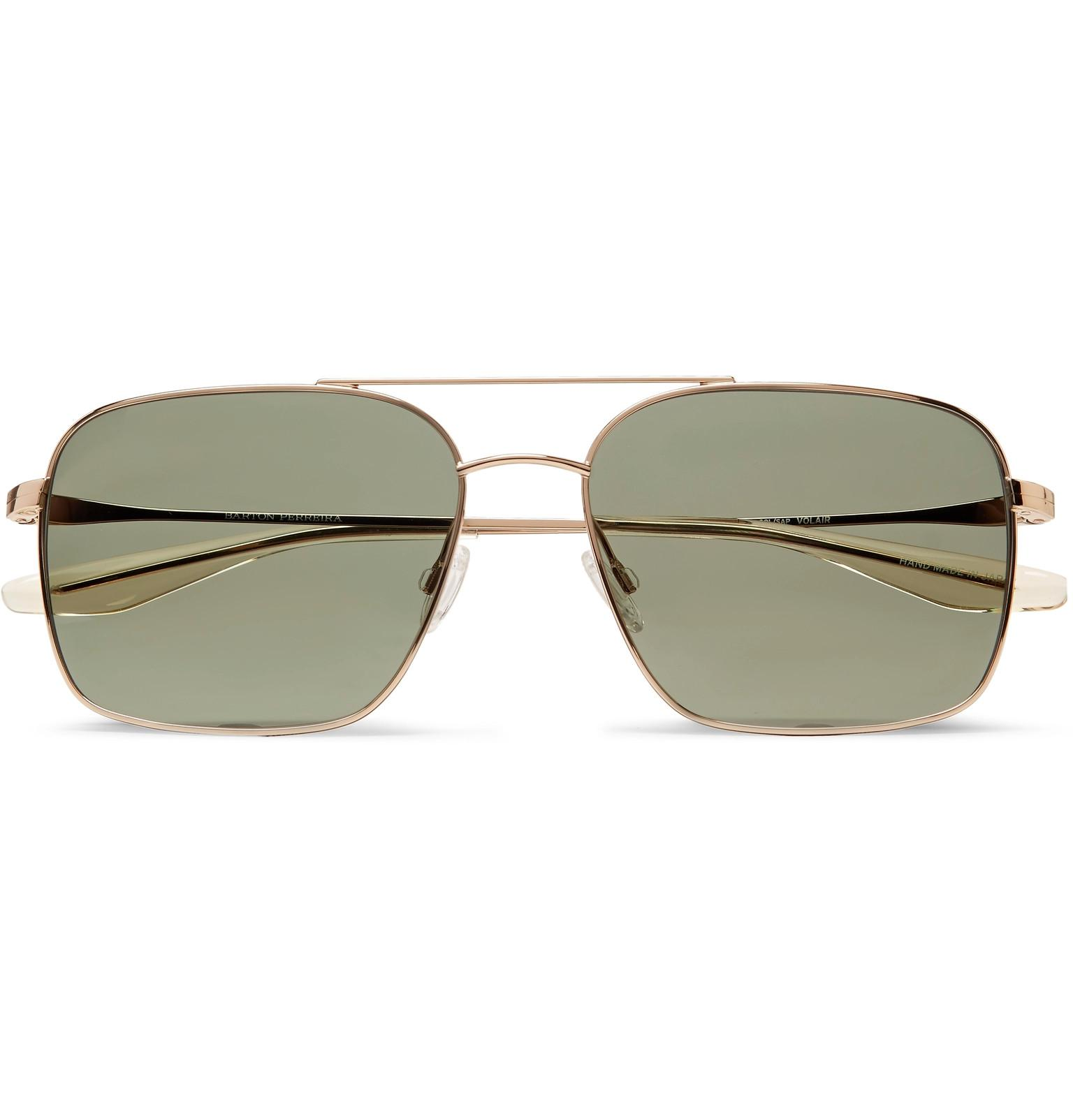 a9dbc75d7d Lyst - Barton Perreira Volair Aviator-style Gold-tone Sunglasses in ...