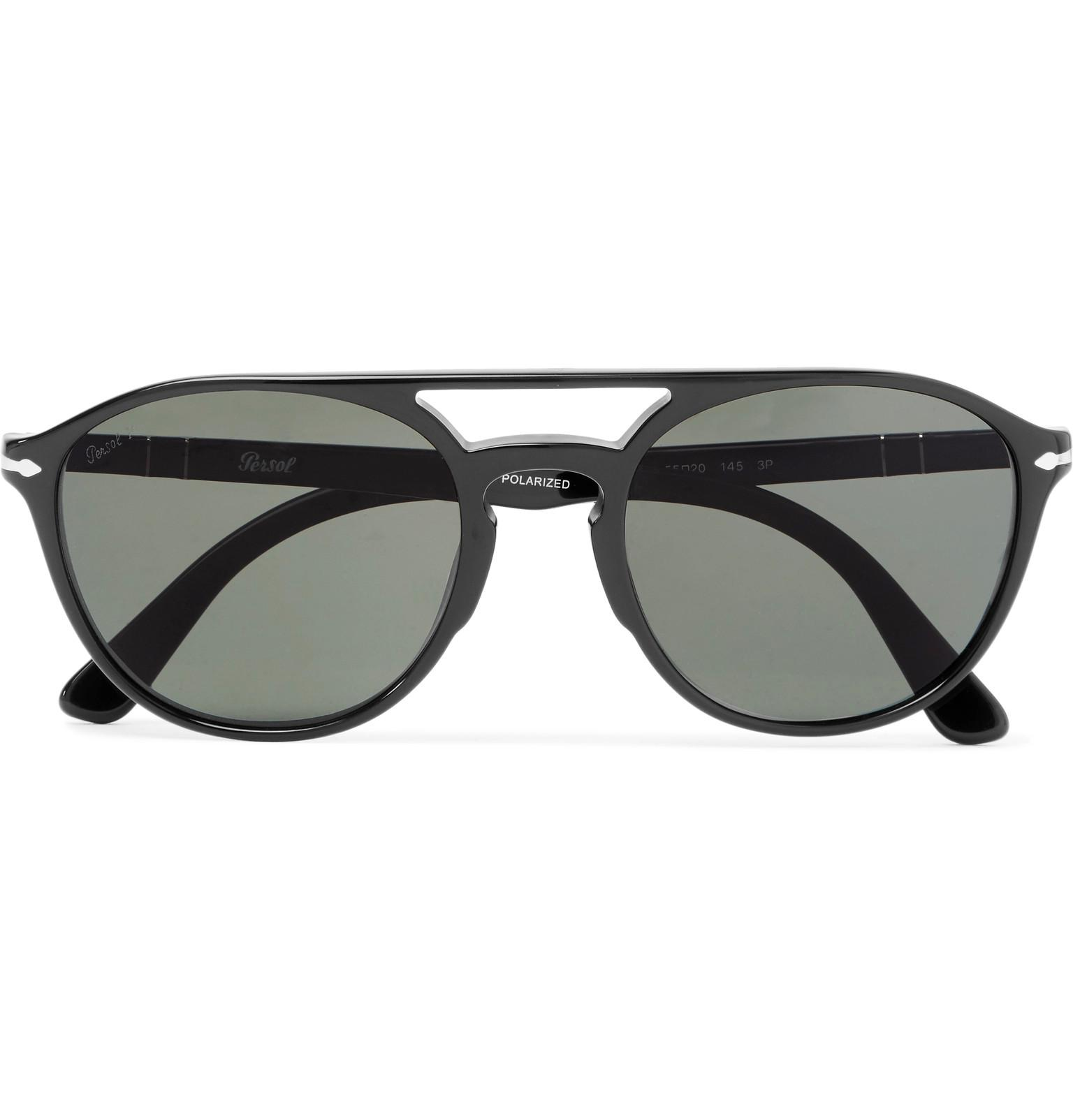 10b279338ca59 Lyst - Persol Aviator-style Acetate Sunglasses in Black for Men