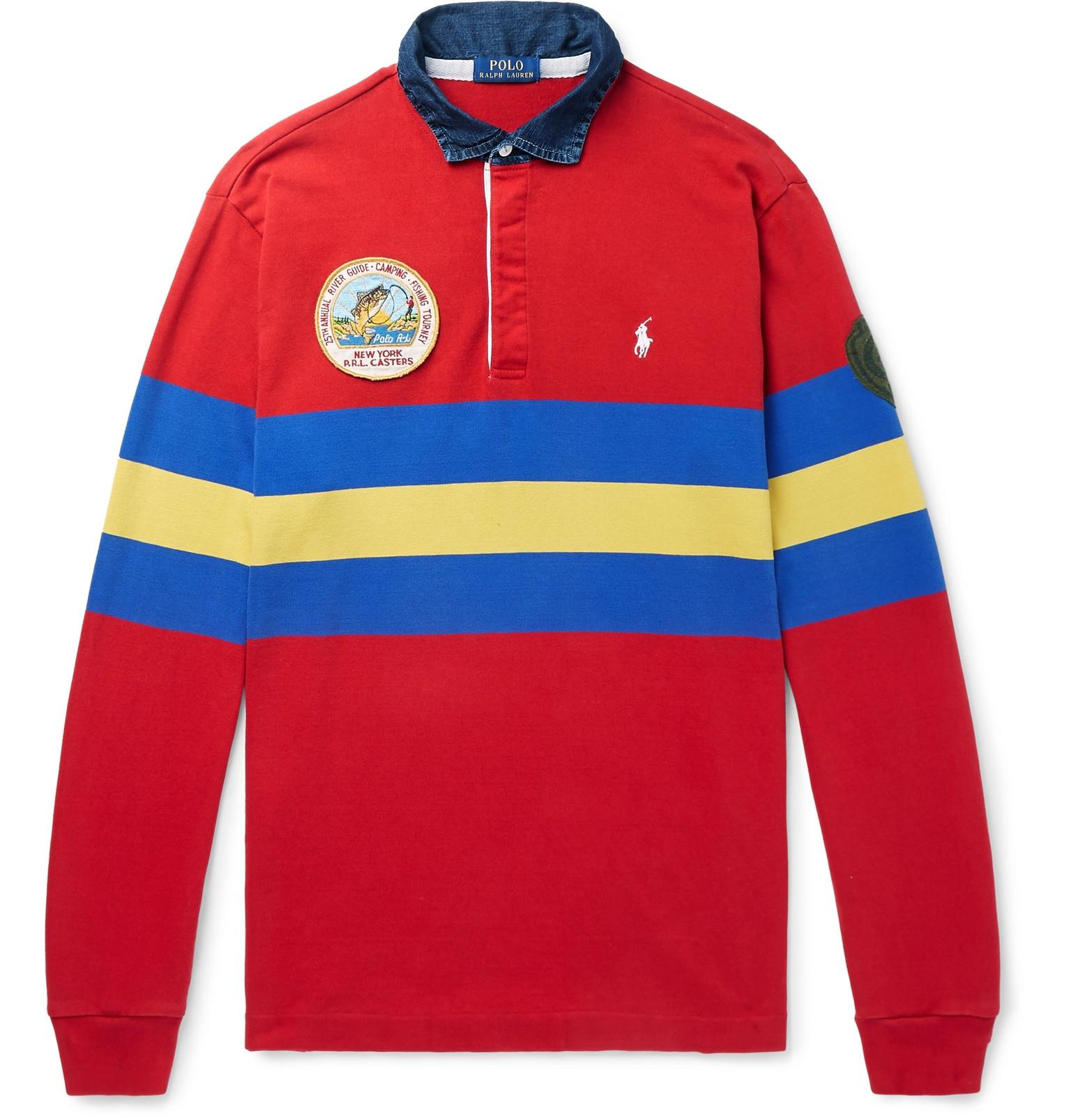 ce5610b0f Polo Ralph Lauren - Logo-embroidered Appliquéd Striped Jersey Polo Shirt  for Men - Lyst