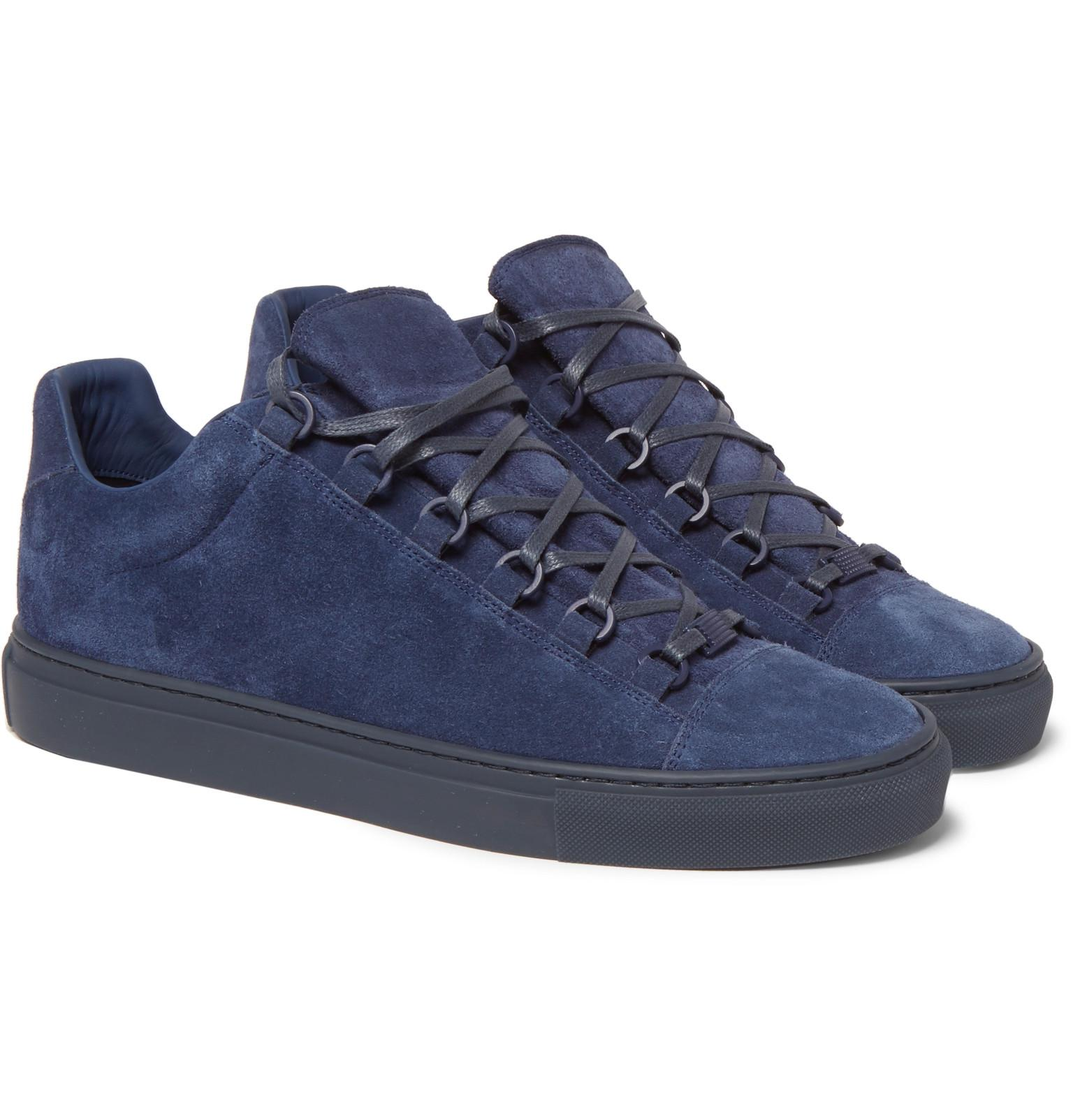 5335119973bf1 Lyst - Balenciaga Arena Suede Sneakers in Blue for Men
