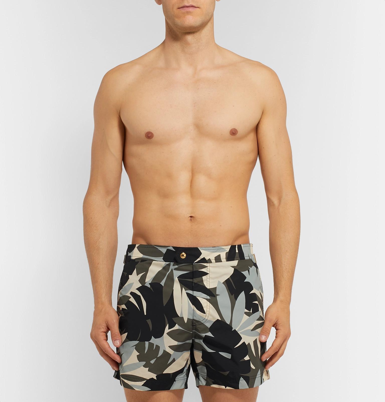 179687b866 Tom Ford - Multicolor Slim-fit Mid-length Printed Swim Shorts for Men -.  View fullscreen