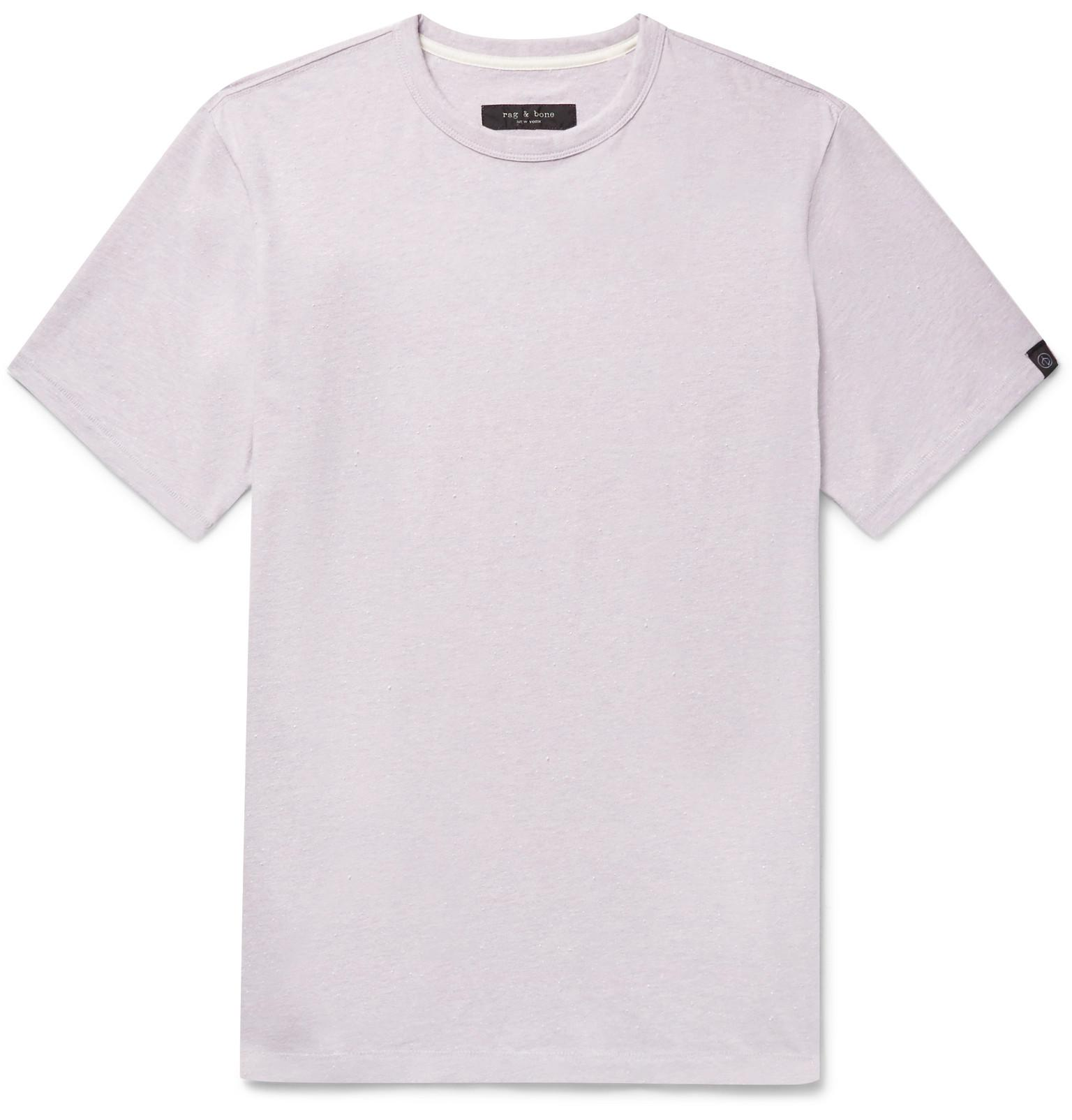 James Slim-fit Nep Cotton-jersey T-shirt - Lilac Rag & Bone Outlet Footlocker Pictures Sale For Cheap Visit New Clearance Really Cheap Sale Footlocker j2AOp0ZkA