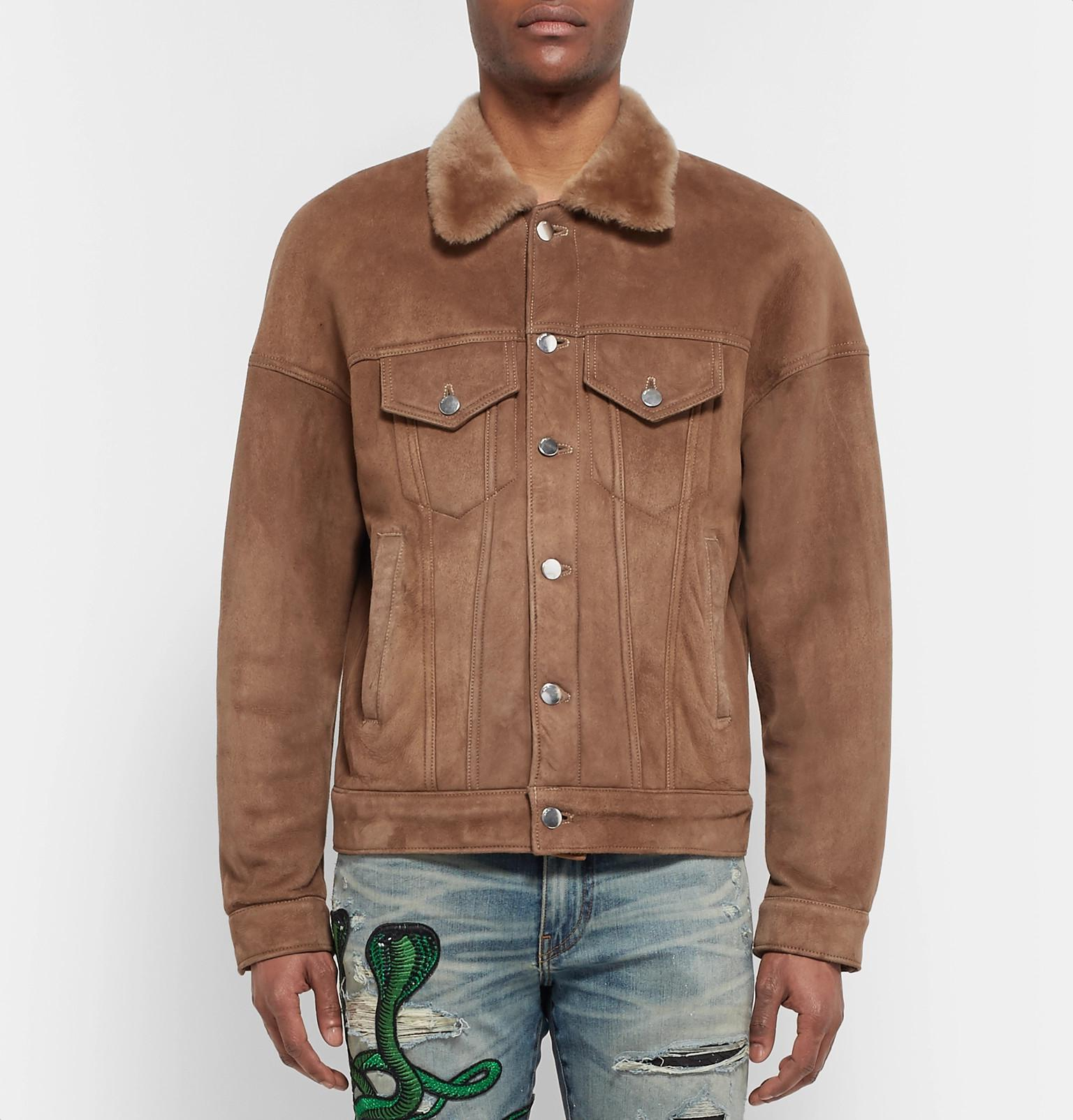 Brown Shearling Trucker Men In Jacket Amiri Lyst For 8xqZnO