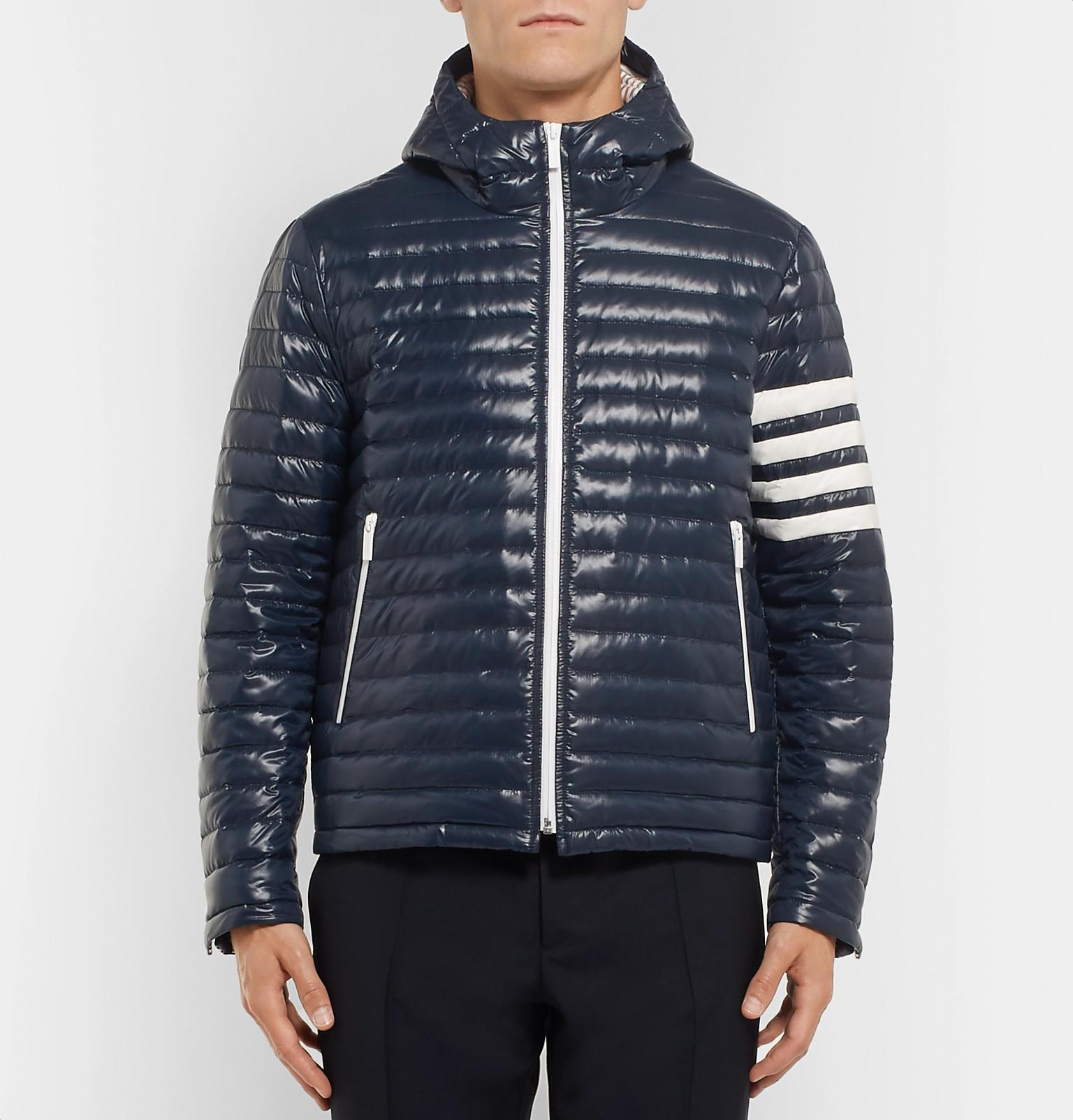 Blue For Quilted Down Men View Lyst Jacket Shell Thom Browne Fullscreen Hooded Striped qAZwZf