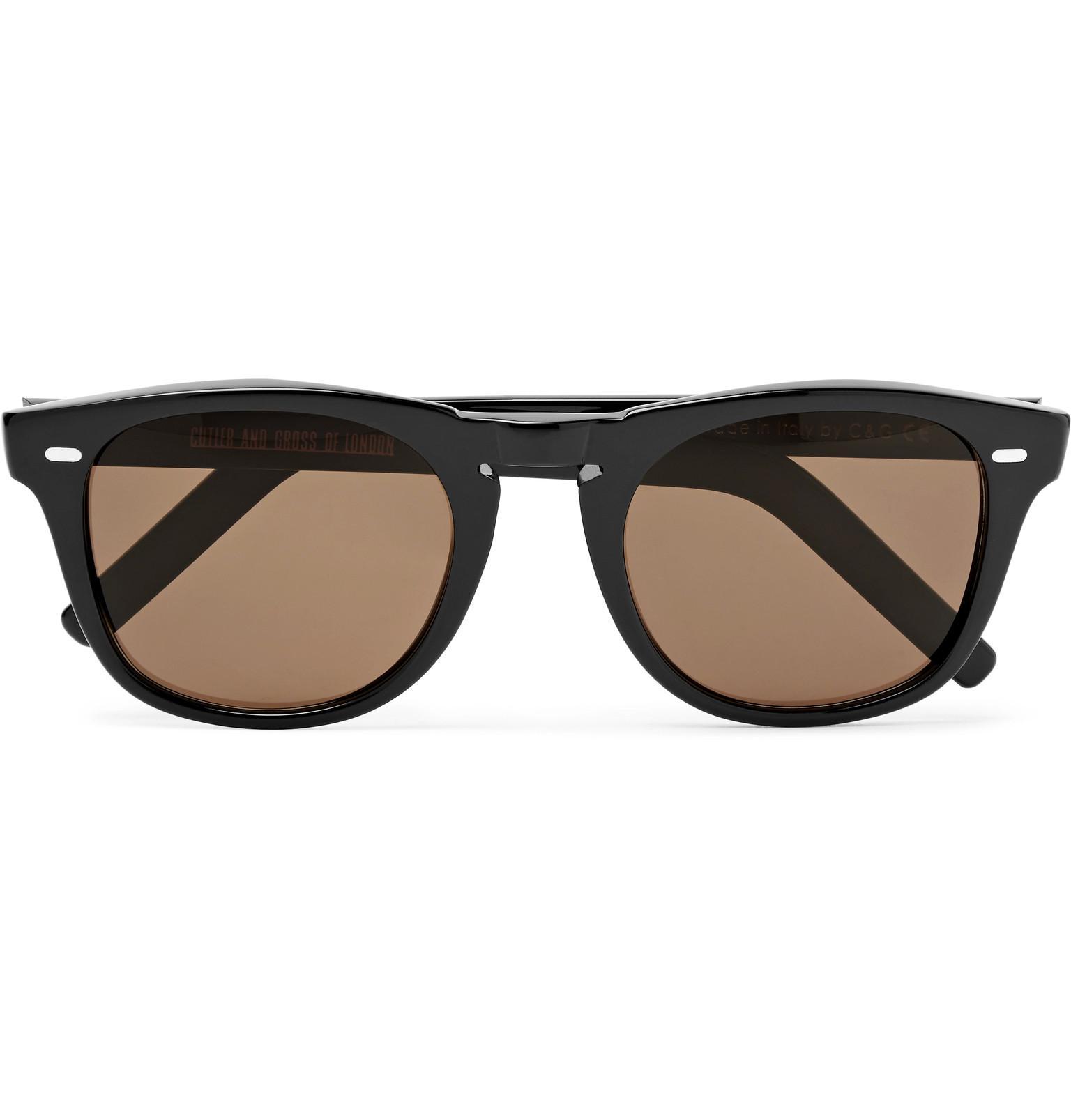 3798f14285 Lyst - Cutler   Gross D-frame Acetate Sunglasses in Black for Men