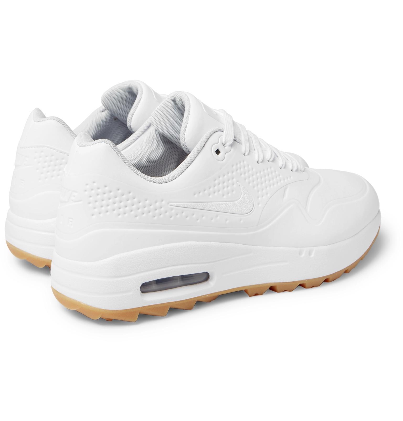 9e828ac83f7c Nike - White Air Max 1g Coated Mesh Golf Shoes for Men - Lyst. View  fullscreen