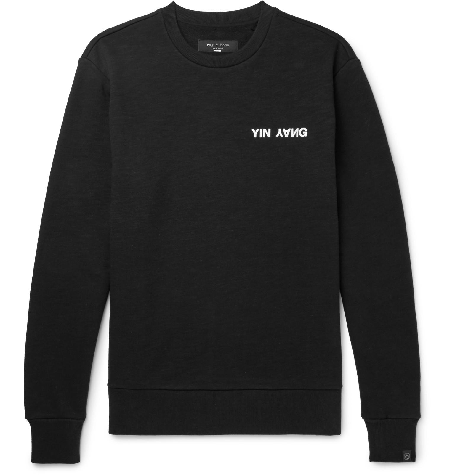 Logo-print Loopback Cotton-jersey Sweatshirt Rag & Bone Classic Cheap Price Collections Online Buy Cheap Authentic Newest EkB1mOC