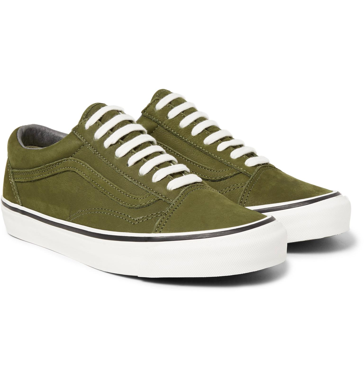 abac75a04e1a59 ... Cress Green True White End. Lyst Vans Og Old Skool Lx Nubuck Sneakers  In Green For Men