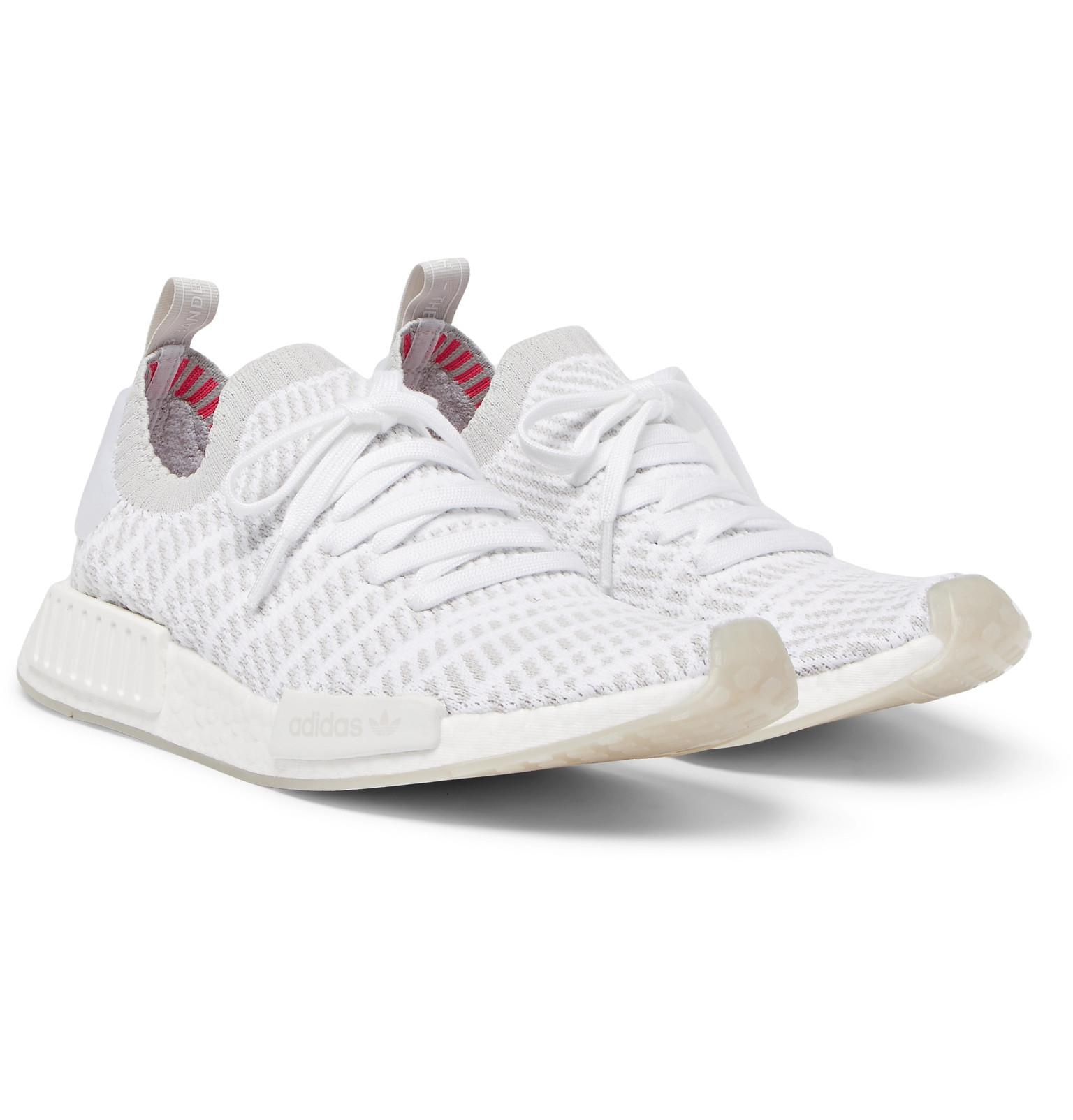 9eb0bf21d5511 Adidas White in Lyst Primeknit Sneakers Originals Nmd Stlt for r1 Men  rx0rp6qw