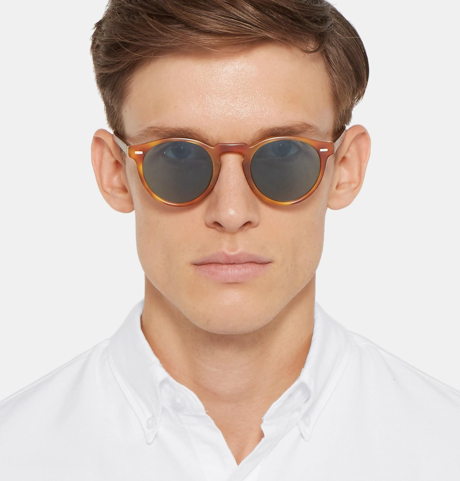 f11a2172c0 Oliver Peoples - Brown Gregory Peck Round-frame Tortoiseshell Acetate  Photochromic Sunglasses for Men -. View fullscreen