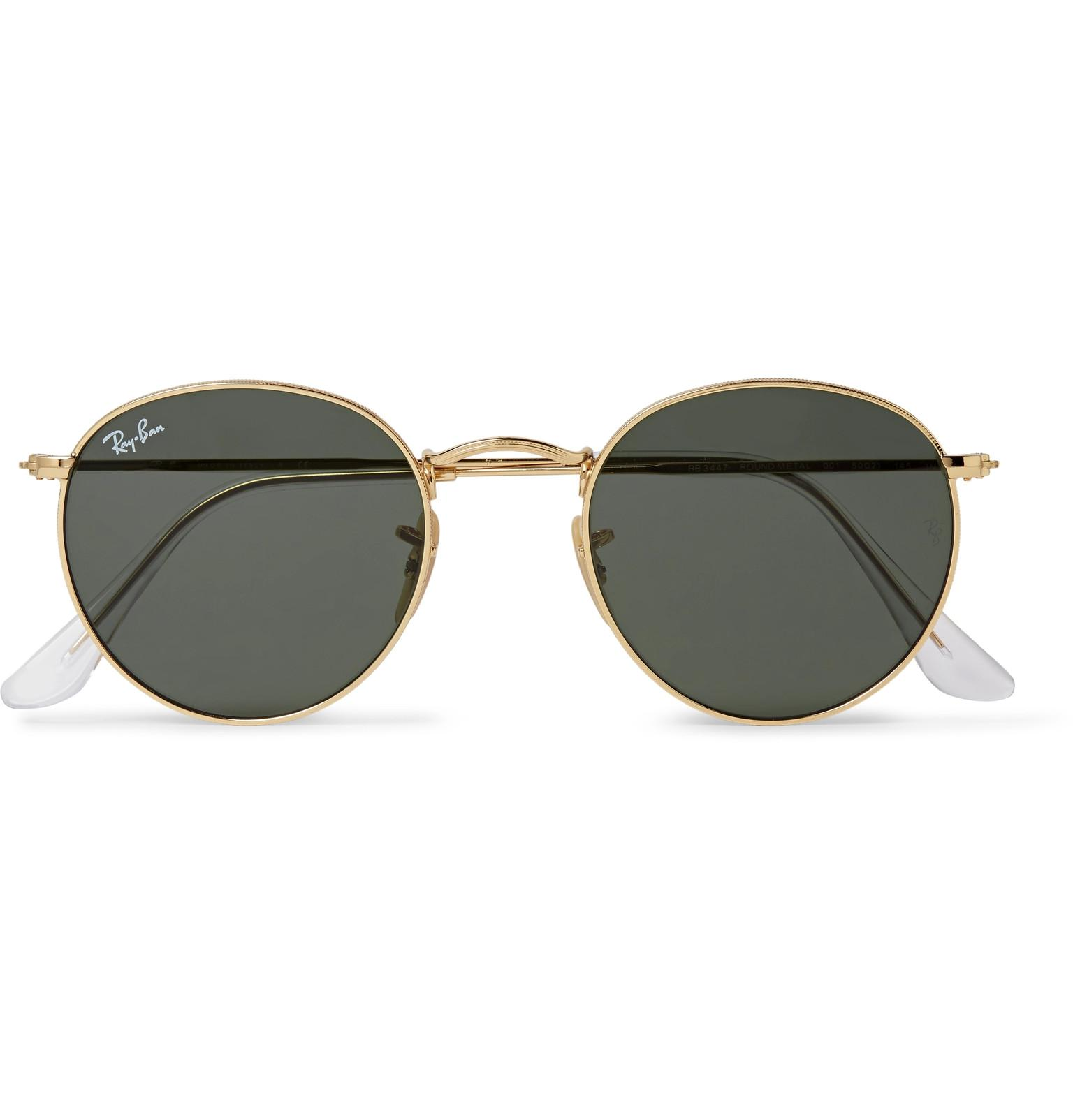 c6daae252dc Ray-Ban Round-frame Gold-tone Sunglasses in Metallic for Men - Lyst