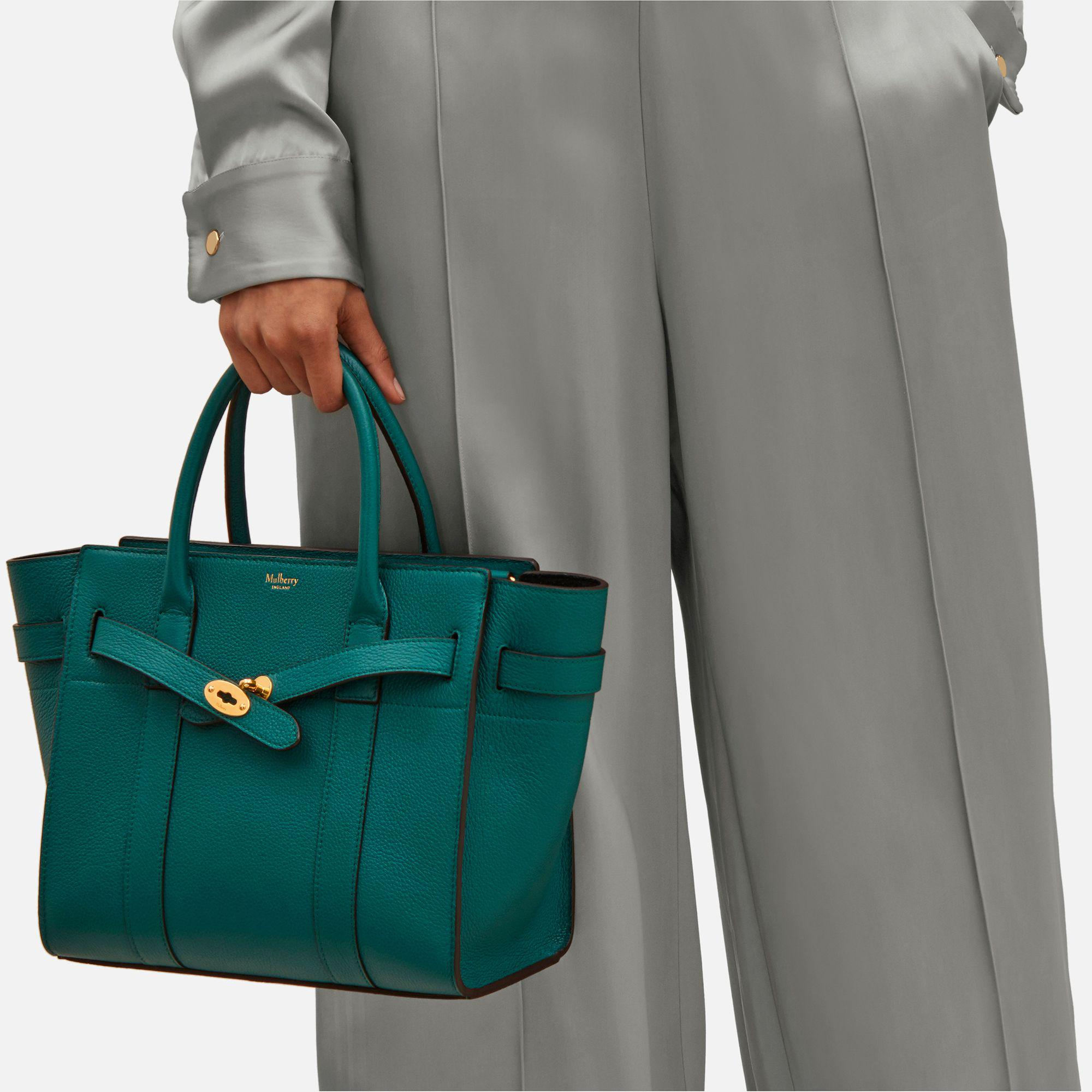 42da79ae48d0 Lyst - Mulberry Small Zipped Bayswater in Green
