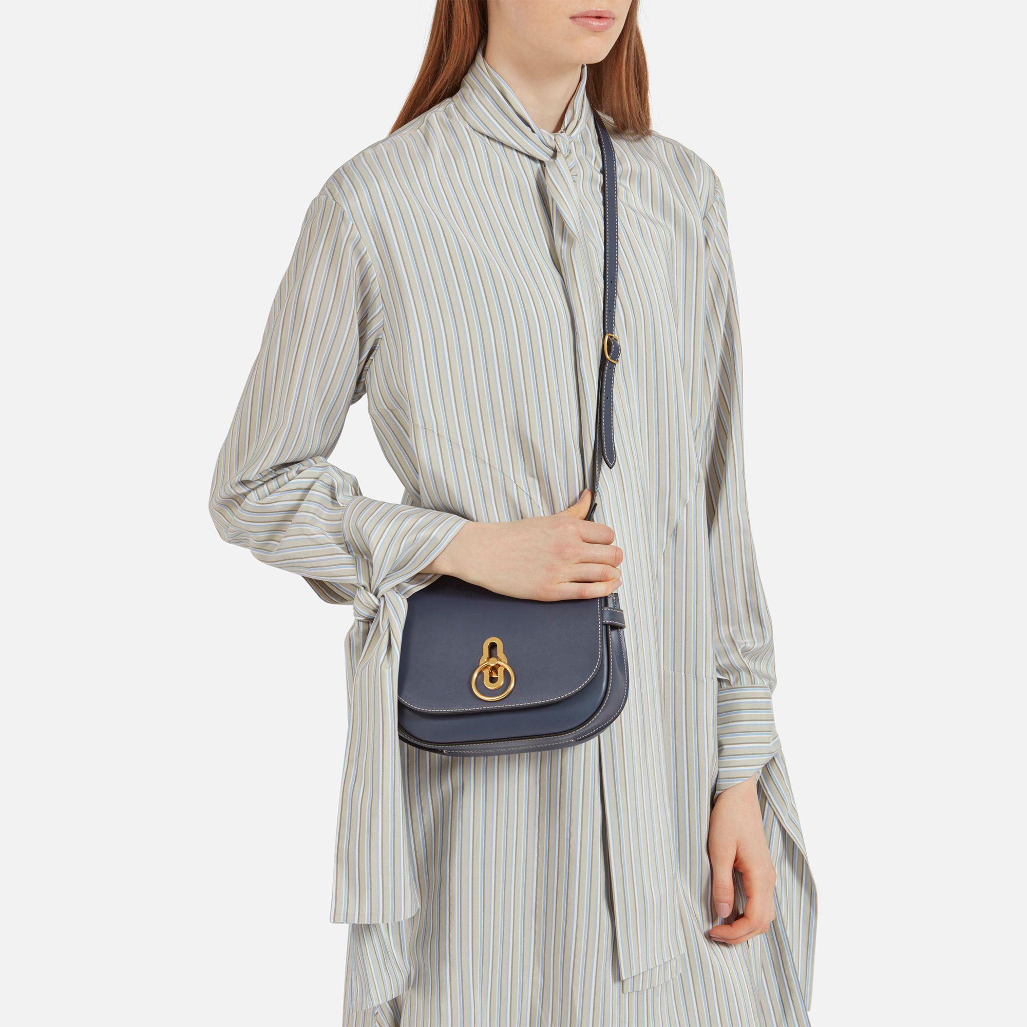 32331bb36459 ... official lyst mulberry small amberley satchel in blue 2b5ec c3204