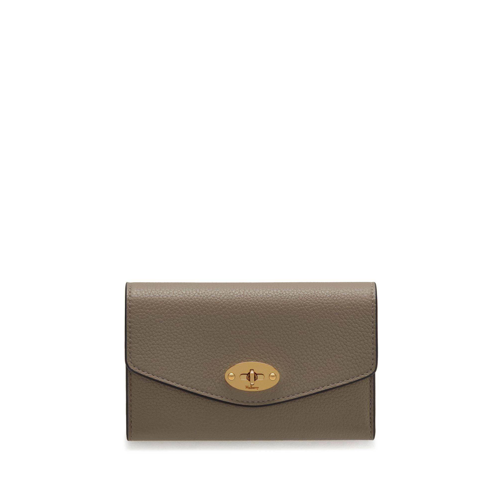 94fb0701b2 Mulberry - Gray Medium Darley Wallet In Solid Grey Small Classic Grain -  Lyst. View fullscreen