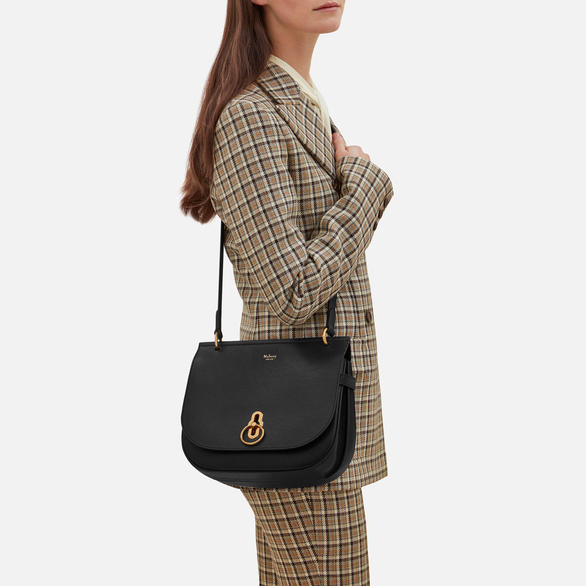 45d1f415c0b1 ... official store mulberry black amberley satchel lyst. view fullscreen  728a5 ca33e