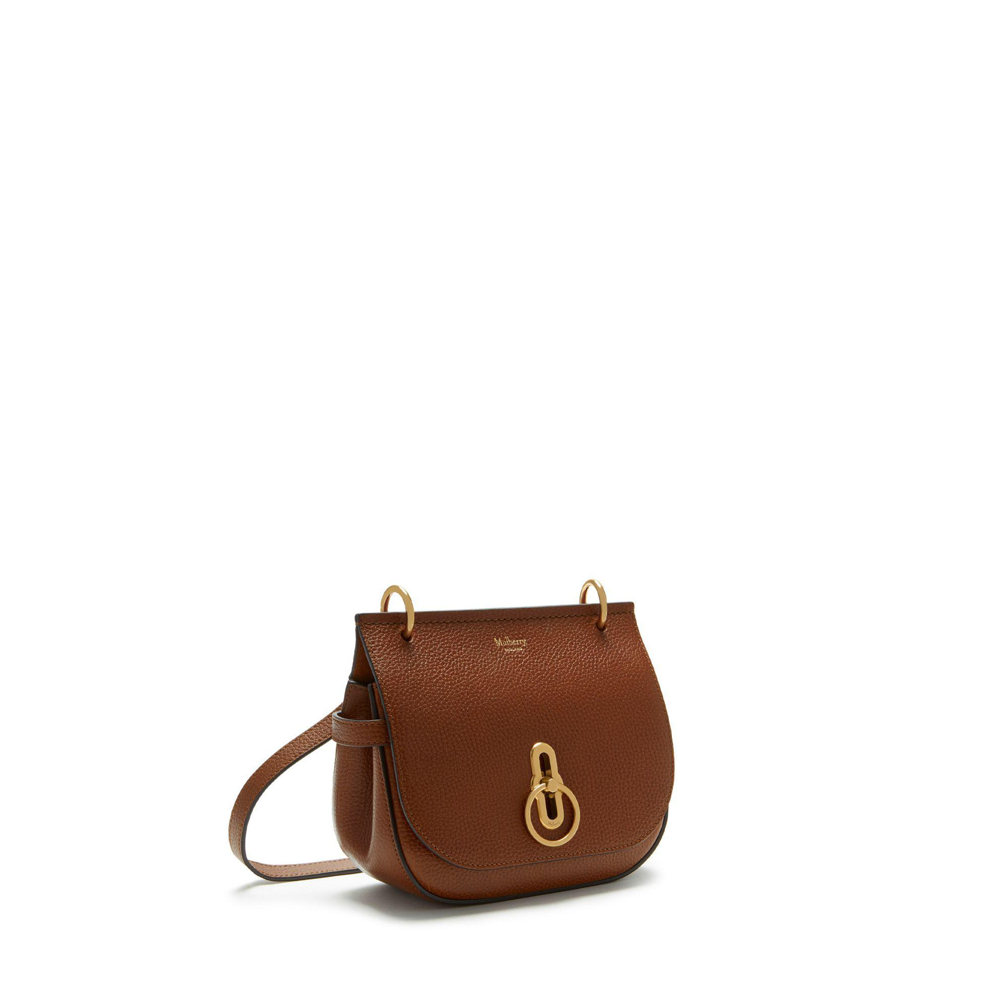 625089935c Mulberry - Brown Small Amberley Satchel In Oak Natural Grain Leather -  Lyst. View fullscreen