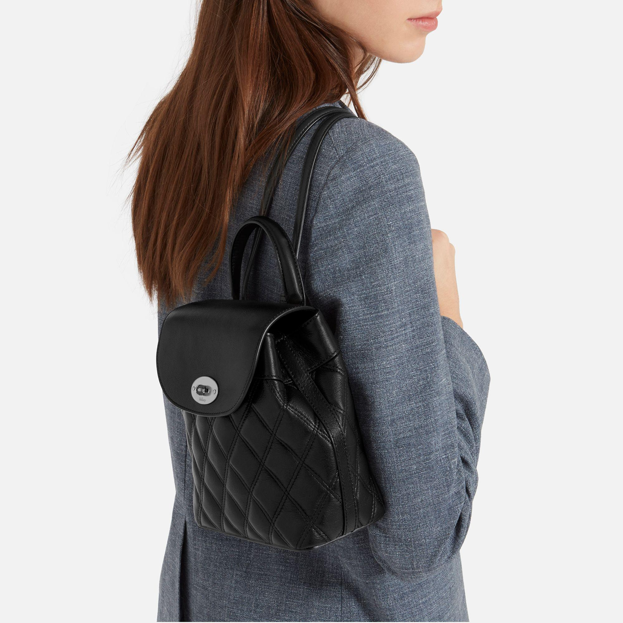 69bb579be7 ... netherlands mulberry black mini bayswater backpack lyst. view  fullscreen f42c7 fd959