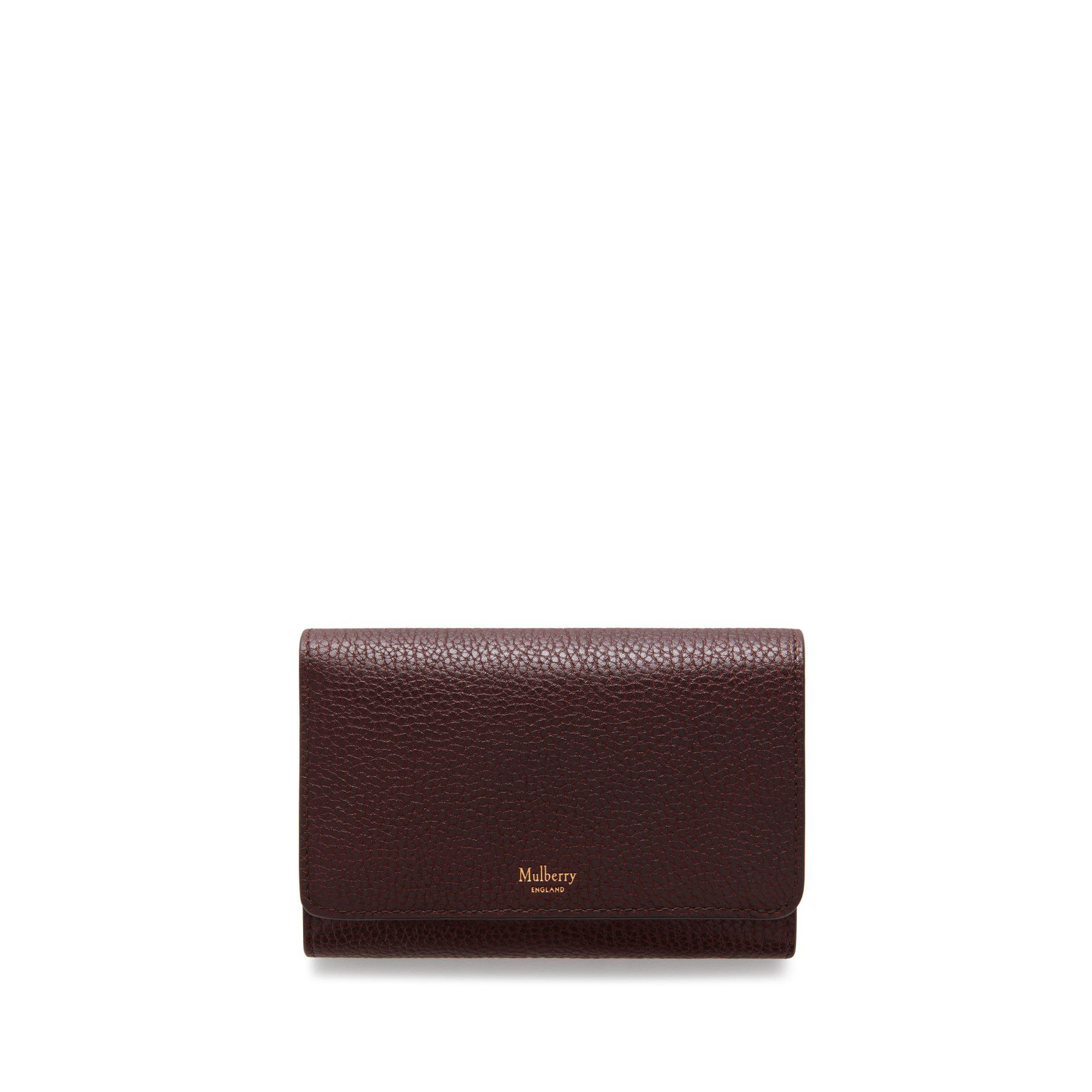 6a79149327342 Mulberry - Multicolor Medium Continental French Purse In Oxblood Natural Grain  Leather - Lyst. View fullscreen