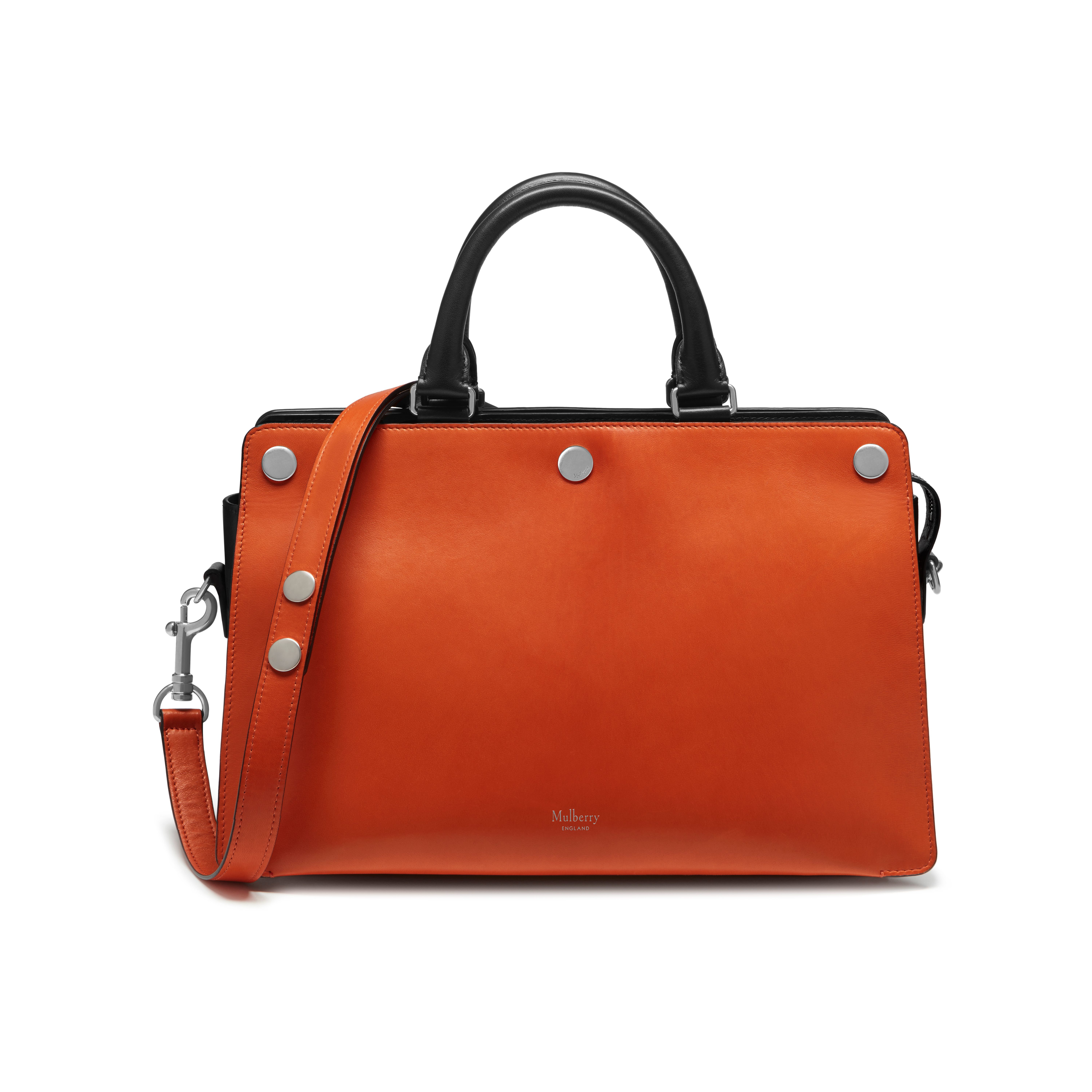 431e1fe733 Lyst - Mulberry Chester Leather Satchel in Orange
