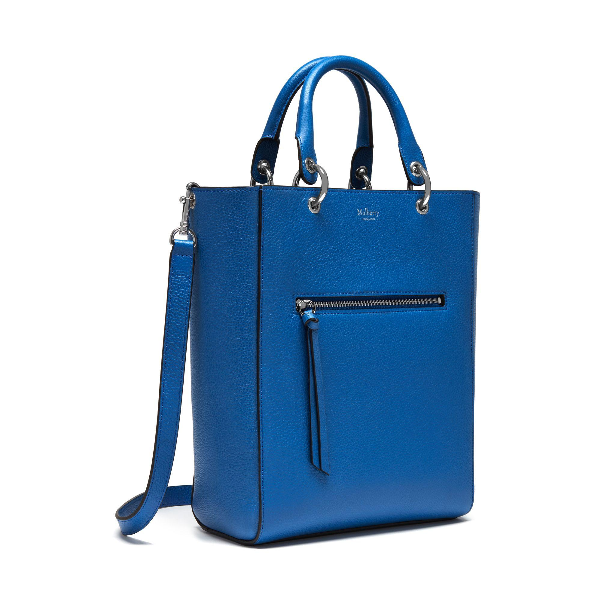 1b6737177595 ... sale lyst mulberry small maple leather tote in blue 70170 c1441